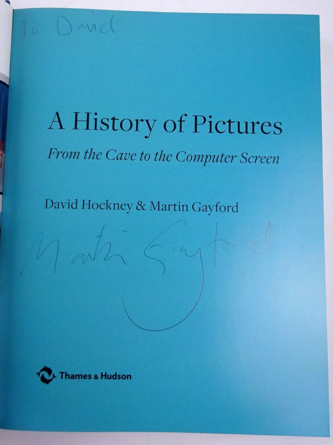 Photo of A HISTORY OF PICTURES FROM THE CAVE TO THE COMPUTER SCREEN written by Hockney, David Gayford, Martin published by Thames and Hudson (STOCK CODE: 2128660)  for sale by Stella & Rose's Books