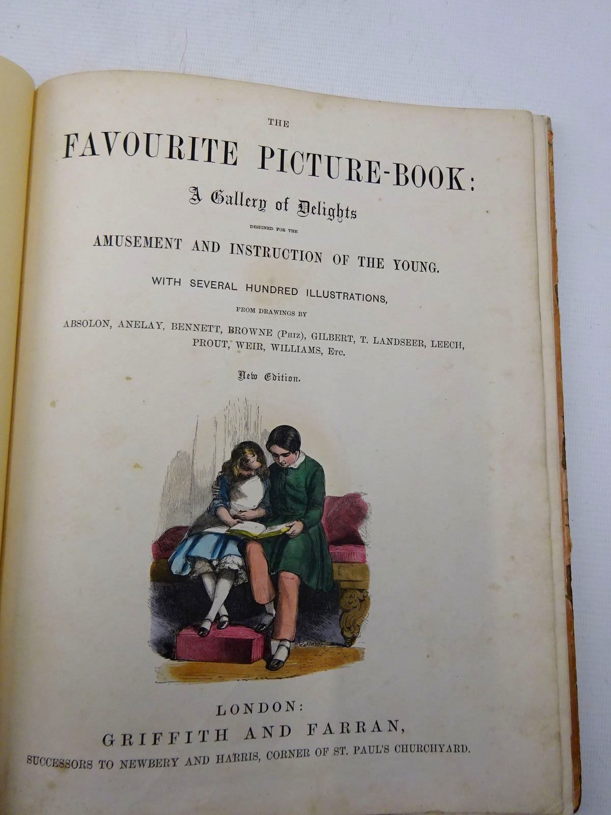 Photo of THE FAVOURITE PICTURE BOOK illustrated by Absolon, John Browne, Halbot Knight Phiz Gilbert, John Landseer, Thomas Leech, John Prout, J.S. Weir, Harrison et al.,  published by Grant and Griffith (STOCK CODE: 2128661)  for sale by Stella & Rose's Books