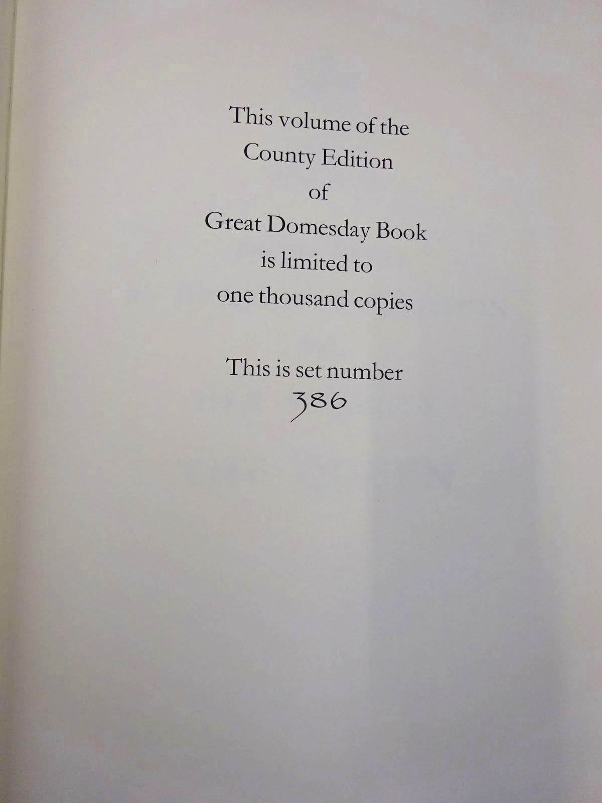 Photo of THE CHESHIRE DOMESDAY (3 VOLUMES) published by Alecto Historical Editions (STOCK CODE: 2128892)  for sale by Stella & Rose's Books