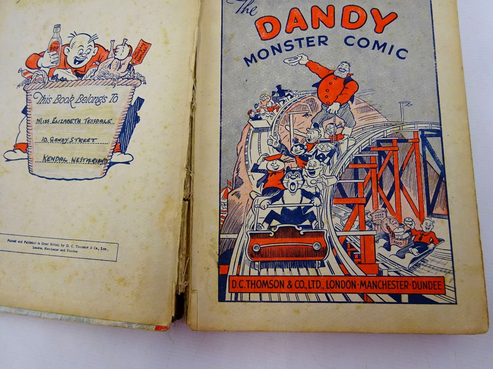 Photo of THE DANDY MONSTER COMIC 1942 published by D.C. Thomson & Co Ltd. (STOCK CODE: 2129020)  for sale by Stella & Rose's Books