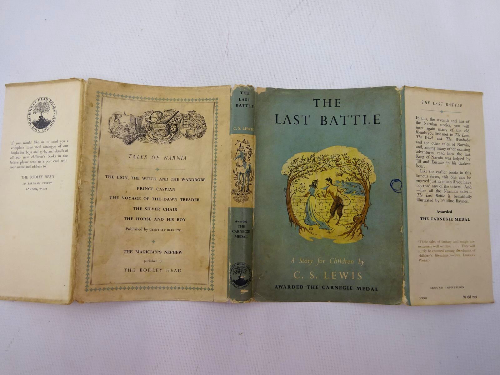 Photo of THE LAST BATTLE written by Lewis, C.S. illustrated by Baynes, Pauline published by The Bodley Head (STOCK CODE: 2129085)  for sale by Stella & Rose's Books
