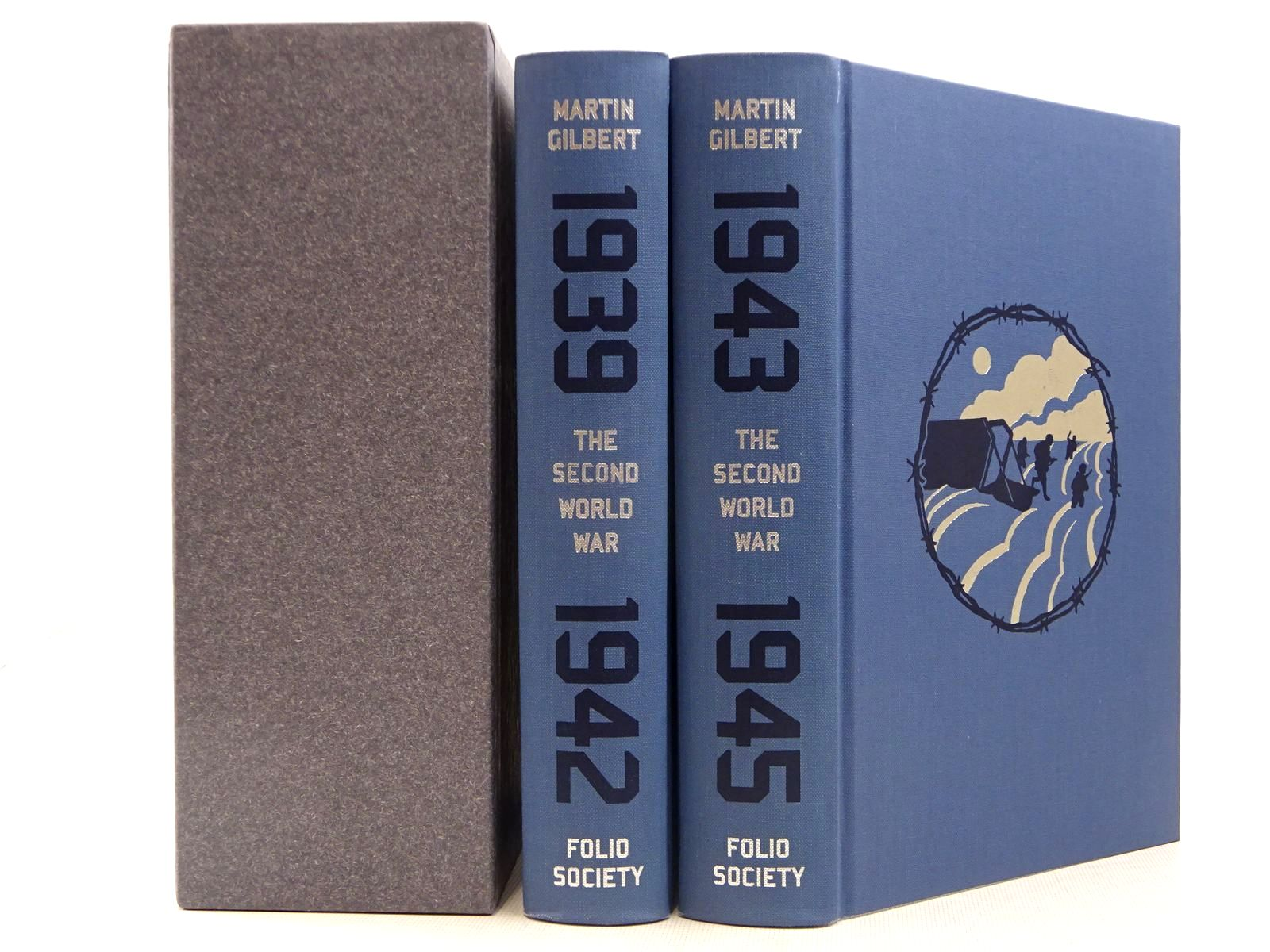 Photo of THE SECOND WORLD WAR (2 VOLUMES) written by Gilbert, Martin illustrated by McLaren, Joe published by Folio Society (STOCK CODE: 2129261)  for sale by Stella & Rose's Books