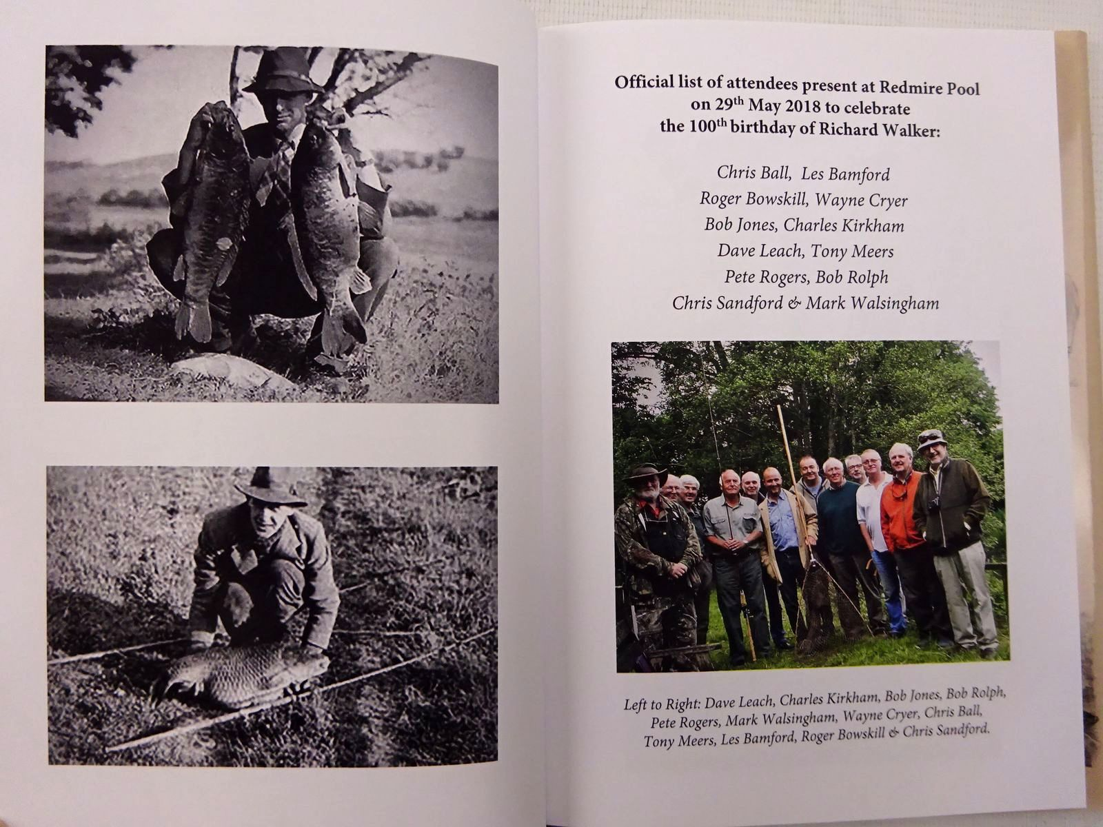 Photo of RICHARD WALKER CENTENARY CELEBRATION REDMIRE POOL, 29TH MAY 2018 illustrated by Woolnough, Robin published by The Little Egret Press (STOCK CODE: 2129336)  for sale by Stella & Rose's Books