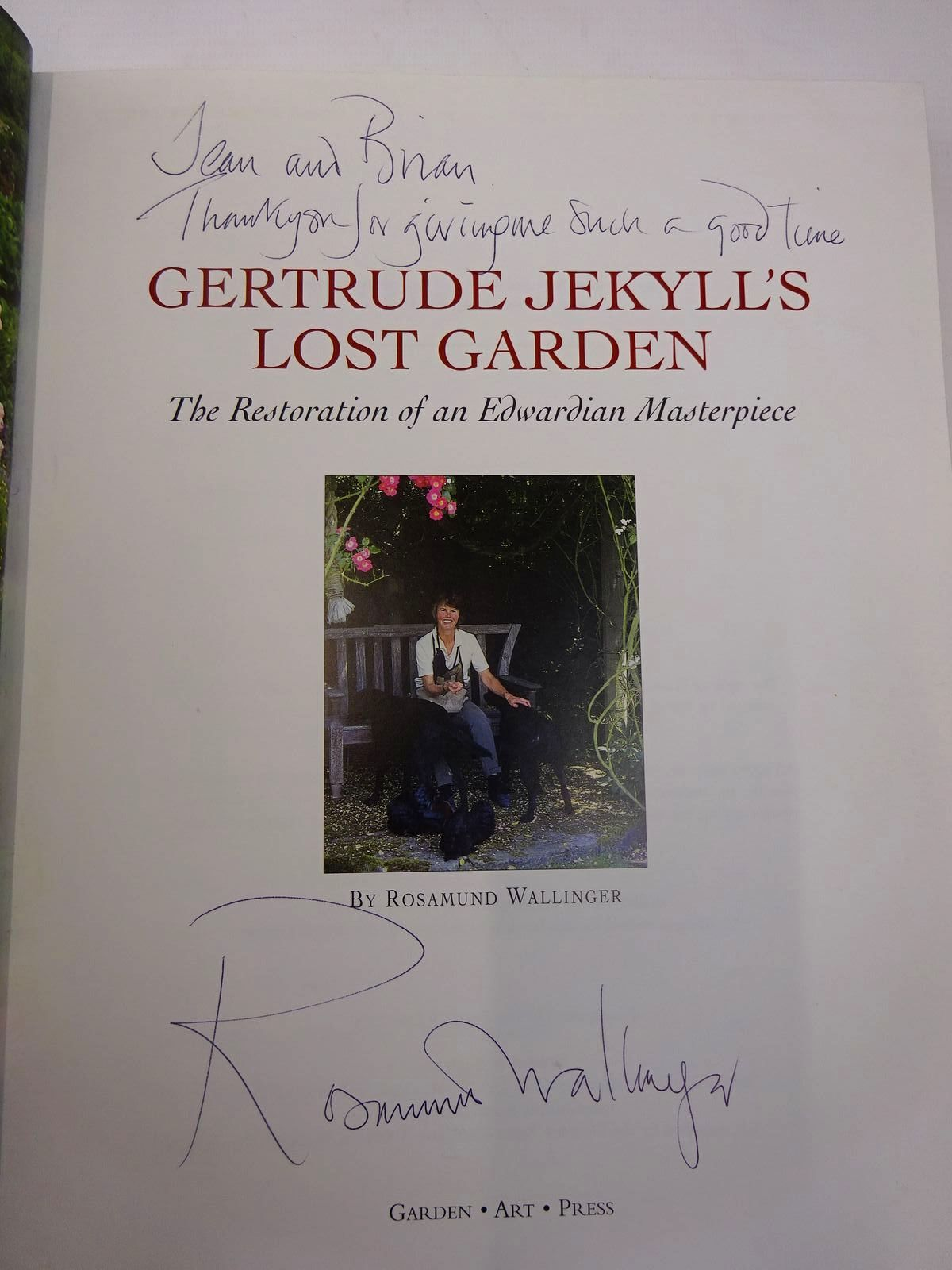 Photo of GERTRUDE JEKYLL'S LOST GARDEN THE RESTORATION OF AN EDWARDIAN MASTERPIECE written by Wallinger, Rosamund published by Garden Art Press (STOCK CODE: 2129573)  for sale by Stella & Rose's Books