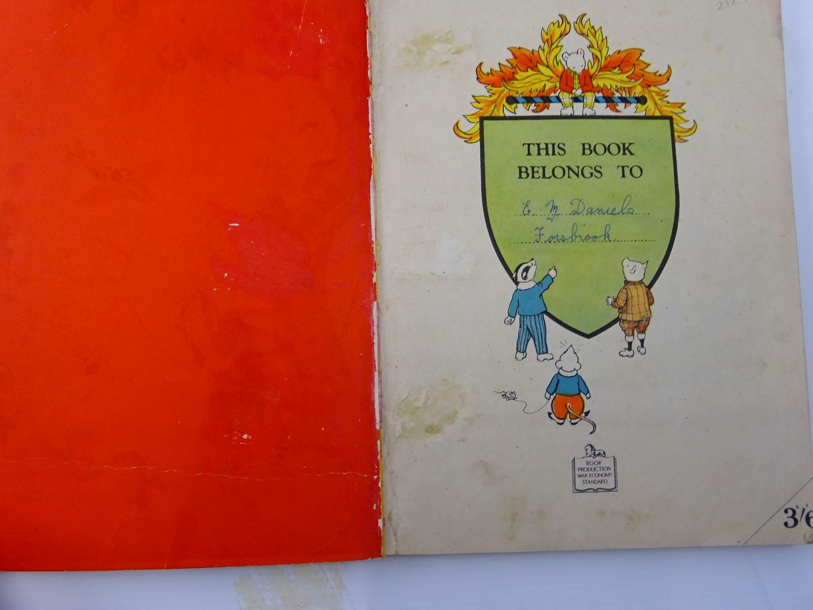 Photo of RUPERT ANNUAL 1945 - A NEW RUPERT BOOK written by Bestall, Alfred illustrated by Bestall, Alfred published by Daily Express (STOCK CODE: 2129624)  for sale by Stella & Rose's Books