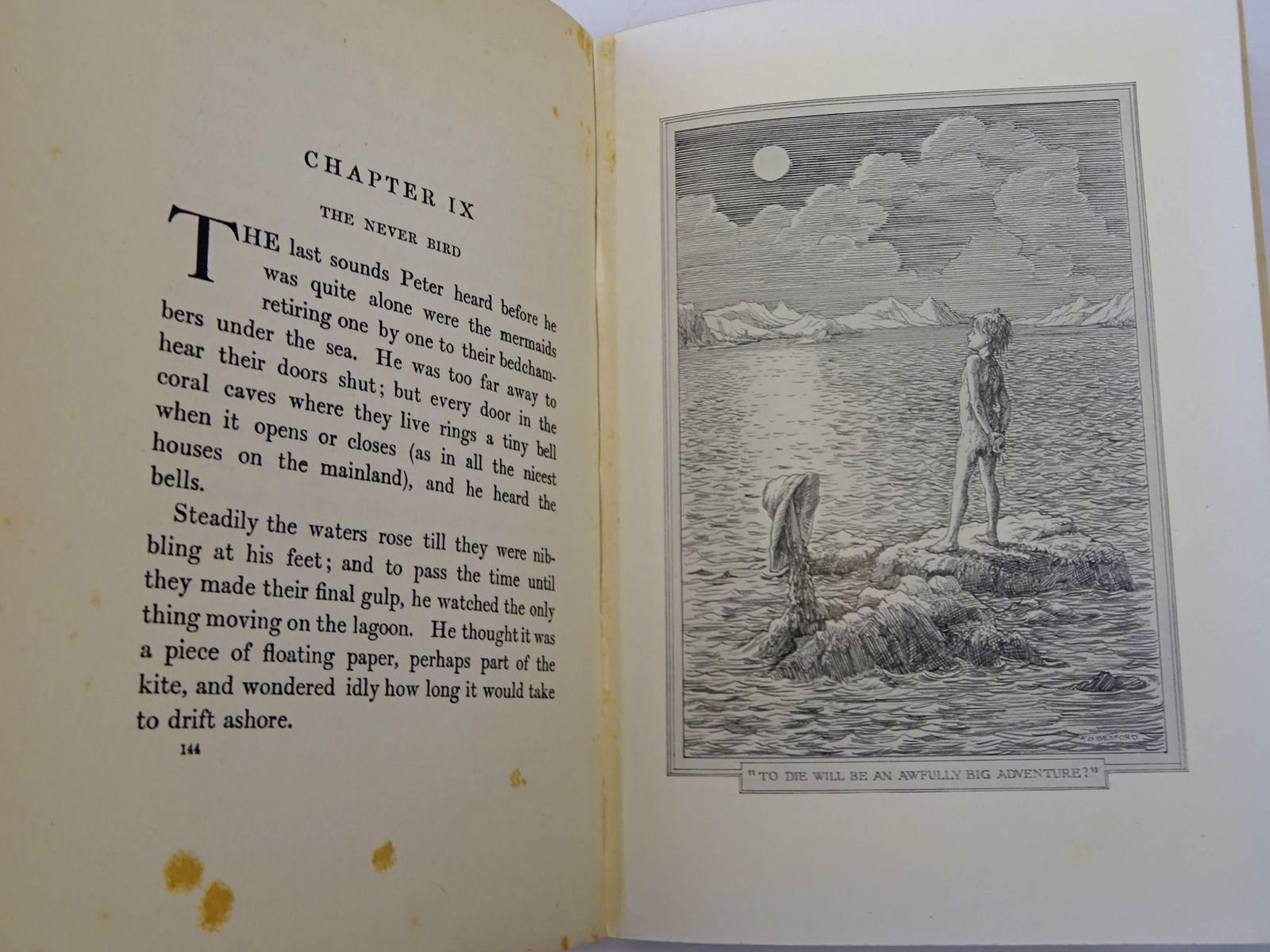 Photo of PETER AND WENDY written by Barrie, J.M. illustrated by Bedford, F.D. published by Hodder & Stoughton (STOCK CODE: 2129851)  for sale by Stella & Rose's Books