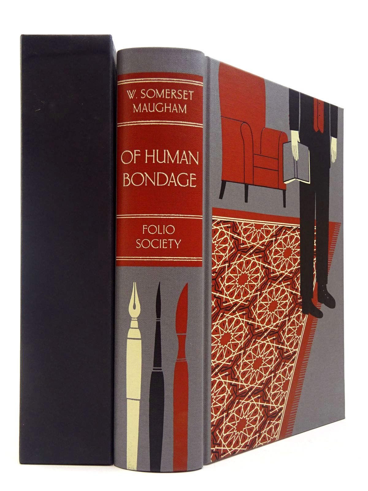 Photo of OF HUMAN BONDAGE written by Maugham, W. Somerset illustrated by Kirkham, Michael published by Folio Society (STOCK CODE: 2130014)  for sale by Stella & Rose's Books