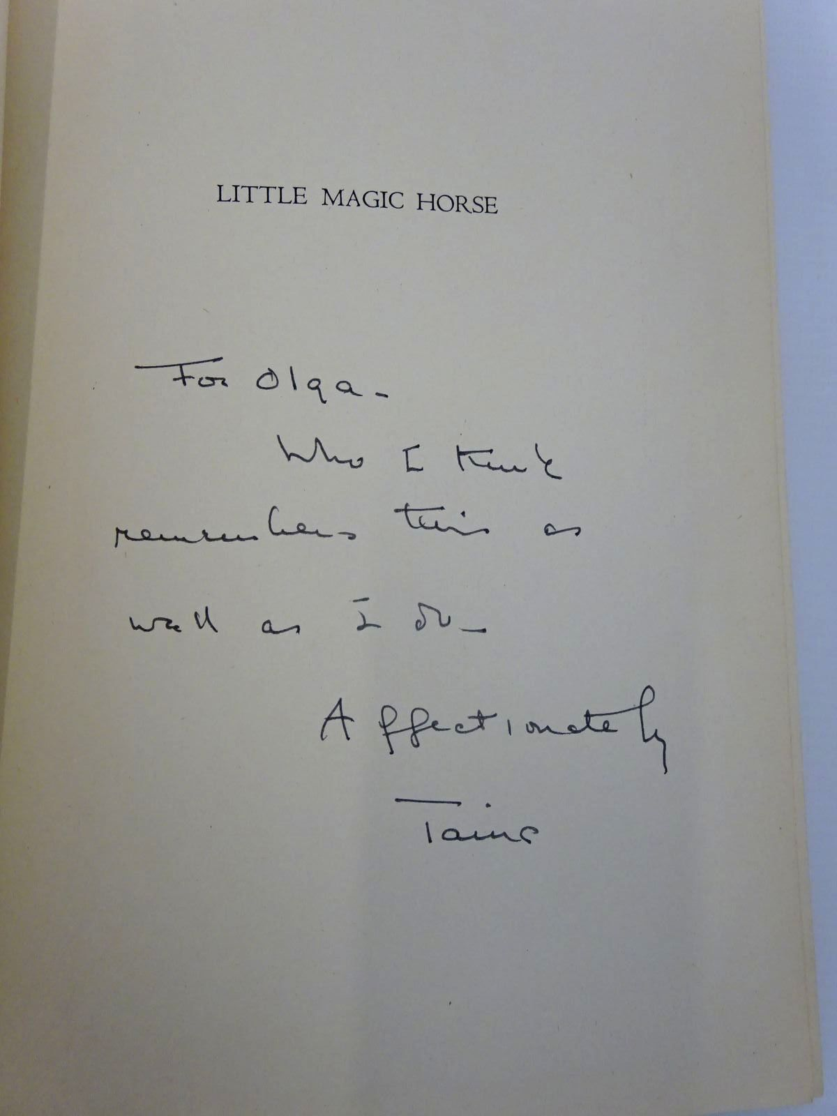 Photo of LITTLE MAGIC HORSE written by Ershoff, Peter Drowne, Tatiana Balkoff illustrated by Bock, Vera published by The Macmillan Company (STOCK CODE: 2130166)  for sale by Stella & Rose's Books