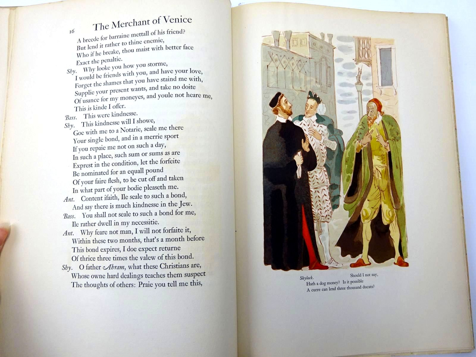 Photo of THE MERCHANT OF VENICE written by Shakespeare, William<br />Farjeon, Herbert illustrated by Sussan, Rene Ben published by The Limited Editions Club (STOCK CODE: 2130462)  for sale by Stella & Rose's Books