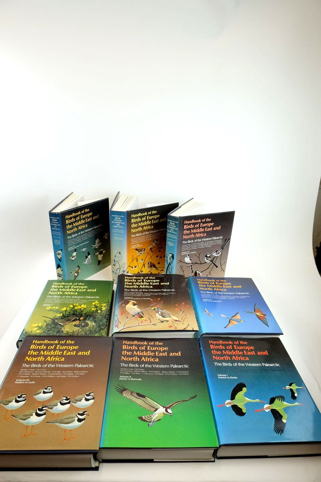 Photo of HANDBOOK OF THE BIRDS OF EUROPE THE MIDDLE EAST AND NORTH AFRICA (9 VOLUMES) written by Cramp, Stanley illustrated by Barruel, Paul<br />Gillmor, Robert<br />Hayman, Peter<br />Scott, Peter<br />et al.,  published by Oxford University Press (STOCK CODE: 2130562)  for sale by Stella & Rose's Books