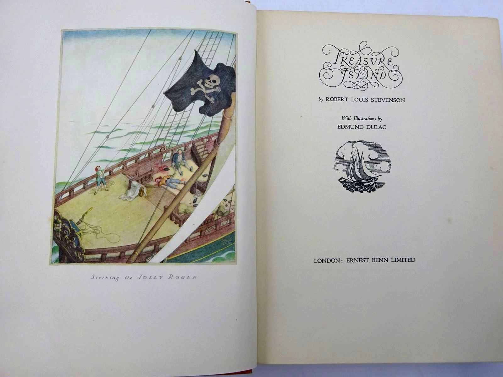 Photo of TREASURE ISLAND written by Stevenson, Robert Louis illustrated by Dulac, Edmund published by Ernest Benn Limited (STOCK CODE: 2130752)  for sale by Stella & Rose's Books