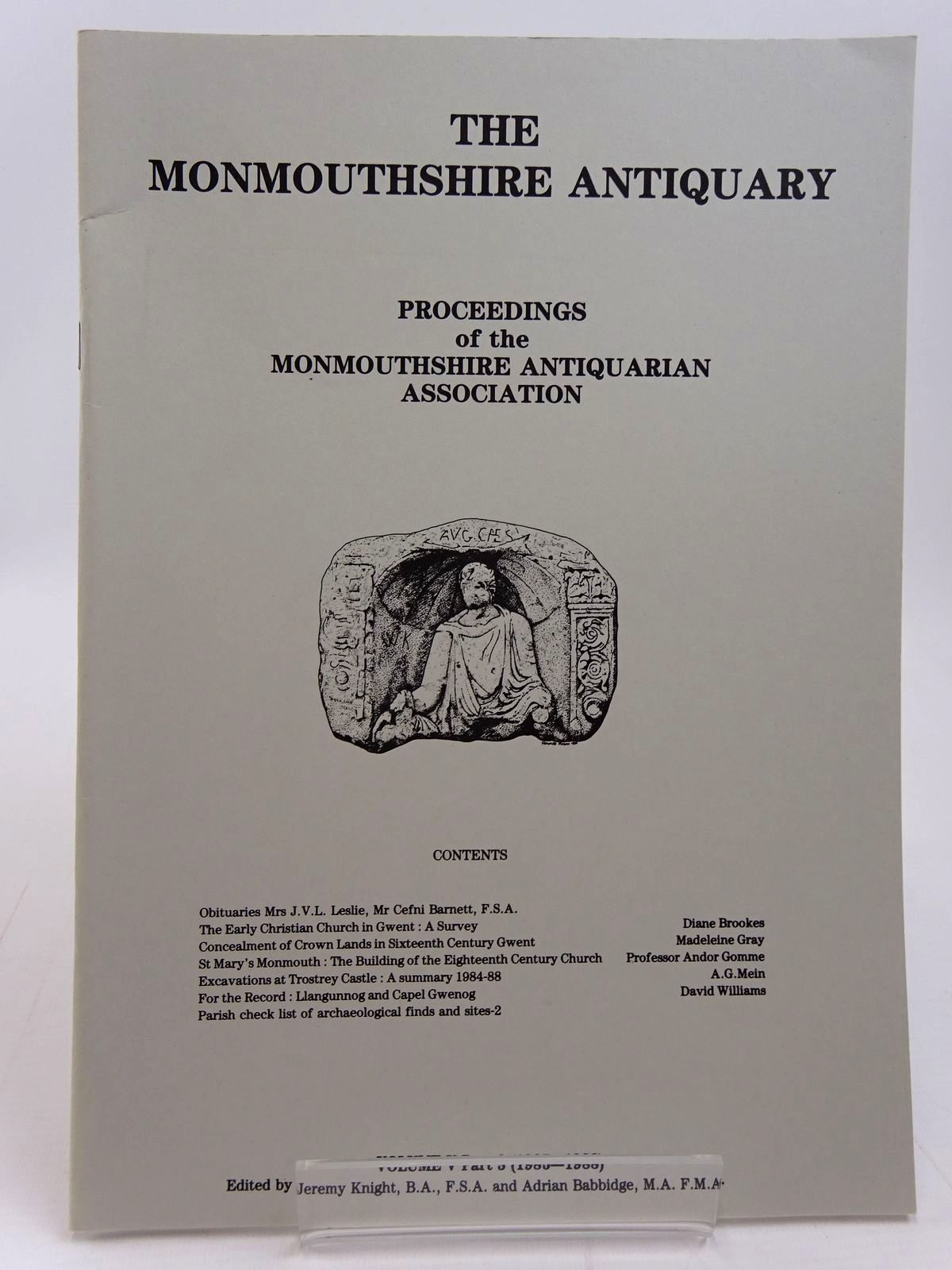 Photo of THE MONMOUTHSHIRE ANTIQUARY VOLUME V PART 3 written by Knight, Jeremy et al,  published by Monmouthshire Antiquarian Association (STOCK CODE: 2130979)  for sale by Stella & Rose's Books