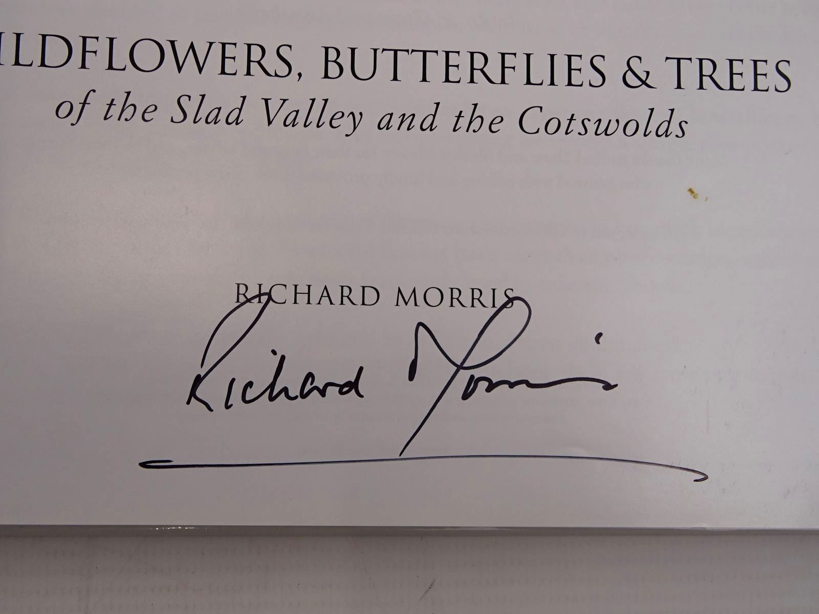 Photo of WILDFLOWERS, BUTTERFLIES & TREES OF THE SLAD VALLEY AND THE COTSWOLDS written by Morris, Richard (STOCK CODE: 2131144)  for sale by Stella & Rose's Books