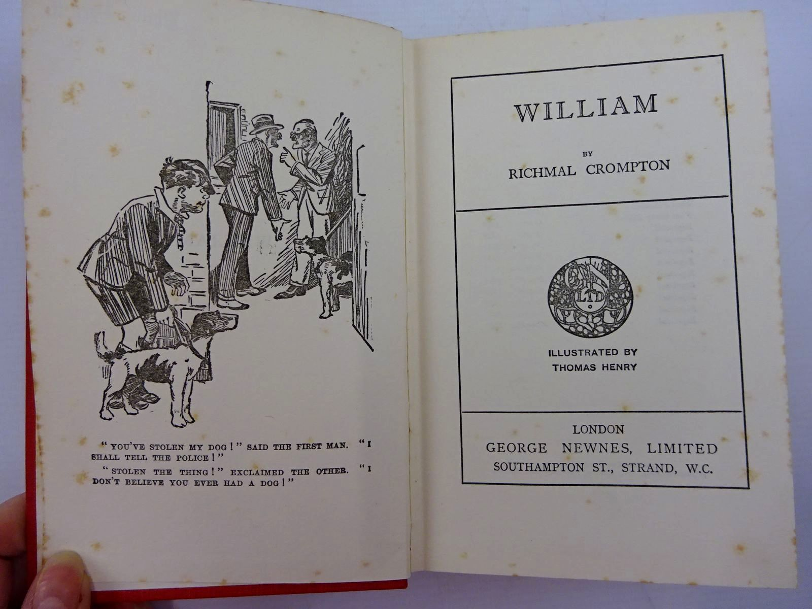 Photo of WILLIAM written by Crompton, Richmal illustrated by Henry, Thomas published by George Newnes Ltd. (STOCK CODE: 2131339)  for sale by Stella & Rose's Books