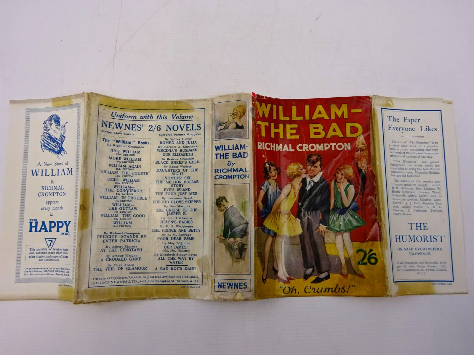 Photo of WILLIAM-THE BAD written by Crompton, Richmal illustrated by Henry, Thomas published by George Newnes Ltd. (STOCK CODE: 2131400)  for sale by Stella & Rose's Books