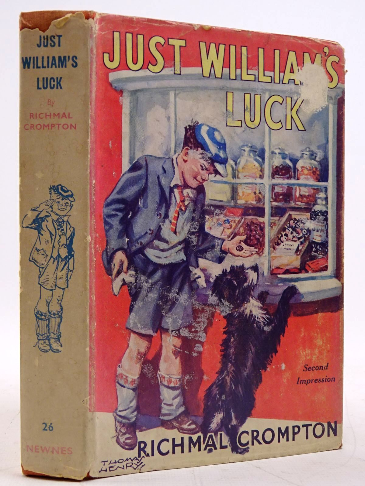 Photo of JUST WILLIAM'S LUCK written by Crompton, Richmal illustrated by Henry, Thomas published by George Newnes Limited (STOCK CODE: 2131421)  for sale by Stella & Rose's Books