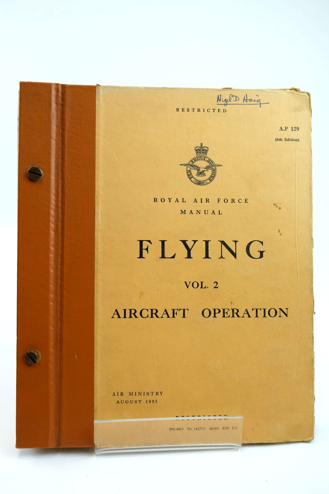 Photo of ROYAL AIR FORCE MANUAL FLYING VOL. 2 AIRCRAFT OPERATION- Stock Number: 2132185