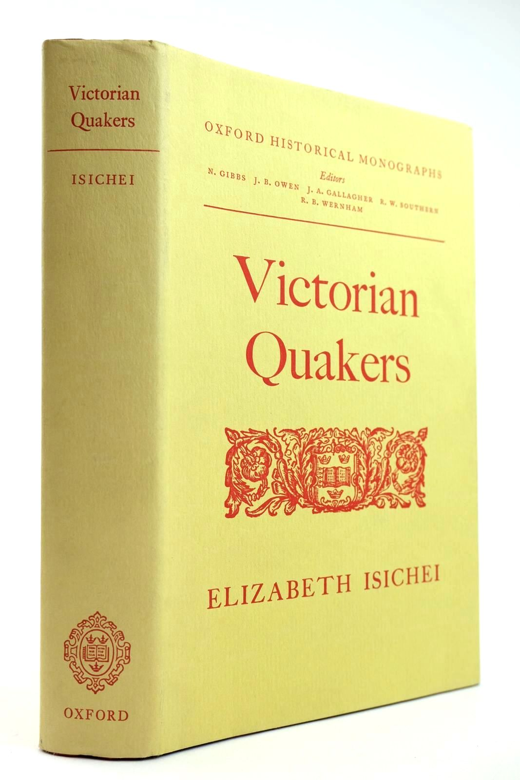 Photo of VICTORIAN QUAKERS written by Isichei, Elizabeth published by Oxford University Press (STOCK CODE: 2132198)  for sale by Stella & Rose's Books