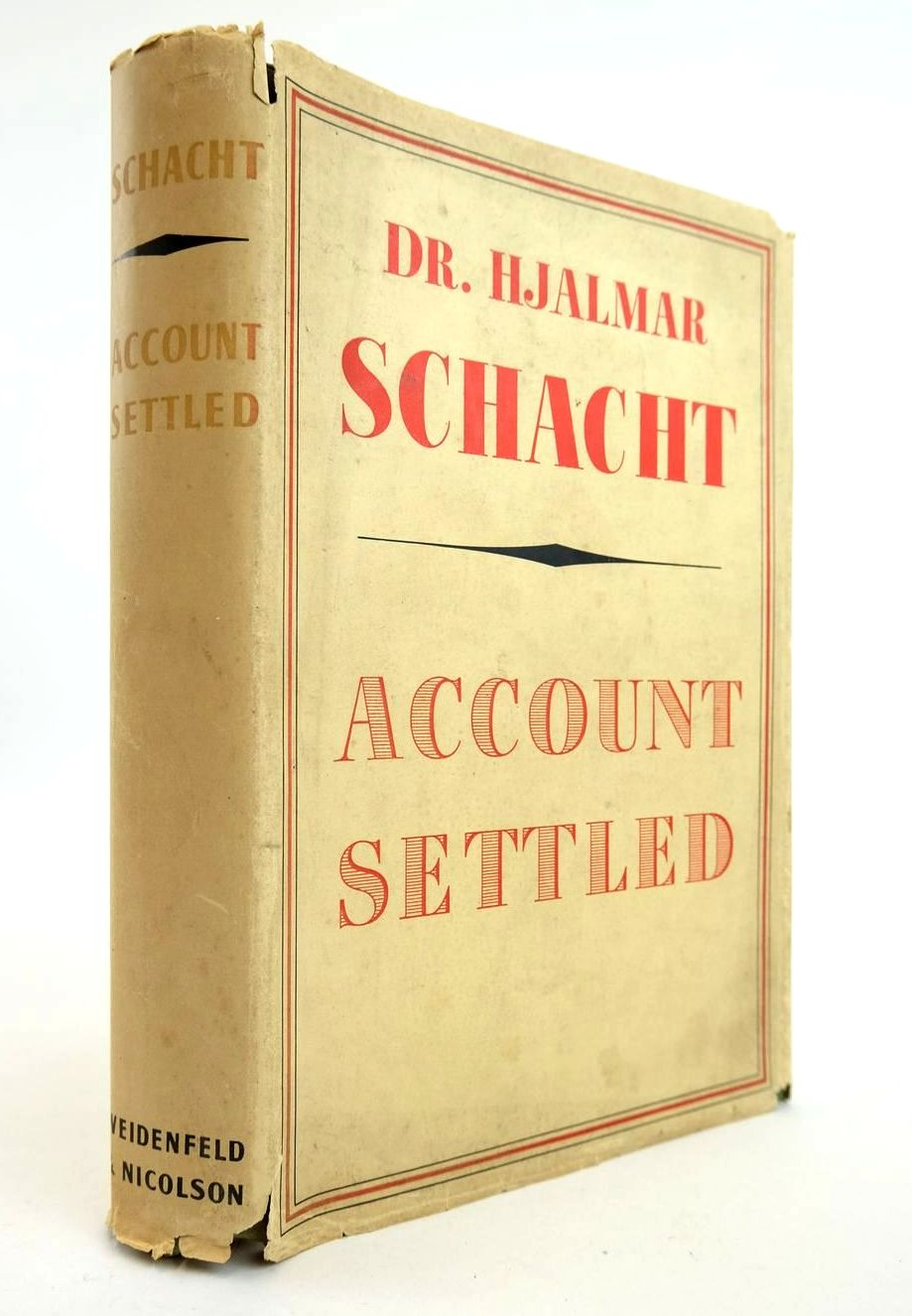 Photo of ACCOUNT SETTLED written by Schacht, Hjalmar published by George Weidenfeld and Nicolson (STOCK CODE: 2132339)  for sale by Stella & Rose's Books
