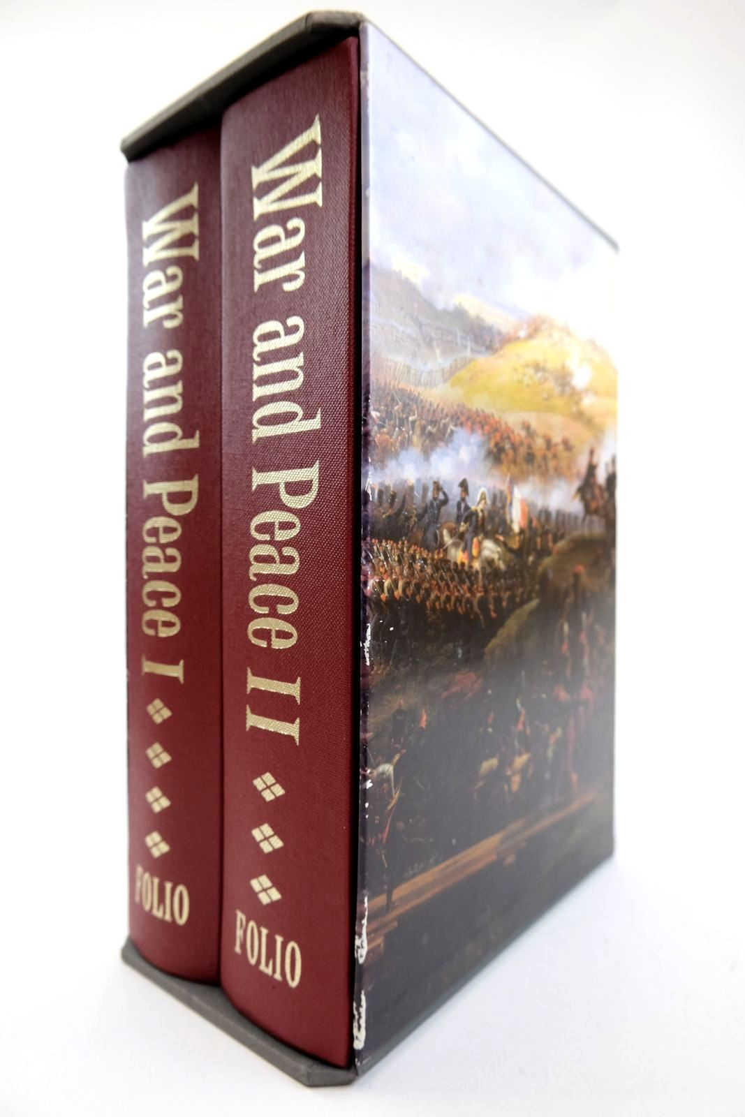 Photo of WAR AND PEACE (2 VOLUMES) written by Tolstoy, Leo illustrated by Topolski, Feliks published by Folio Society (STOCK CODE: 2132381)  for sale by Stella & Rose's Books