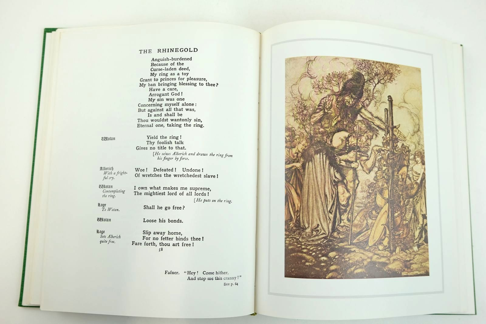 Photo of THE RING OF THE NIBLUNG: THE RHINEGOLD AND THE VALKYRIE written by Wagner, Richard illustrated by Rackham, Arthur published by William Heinemann Ltd. (STOCK CODE: 2132696)  for sale by Stella & Rose's Books