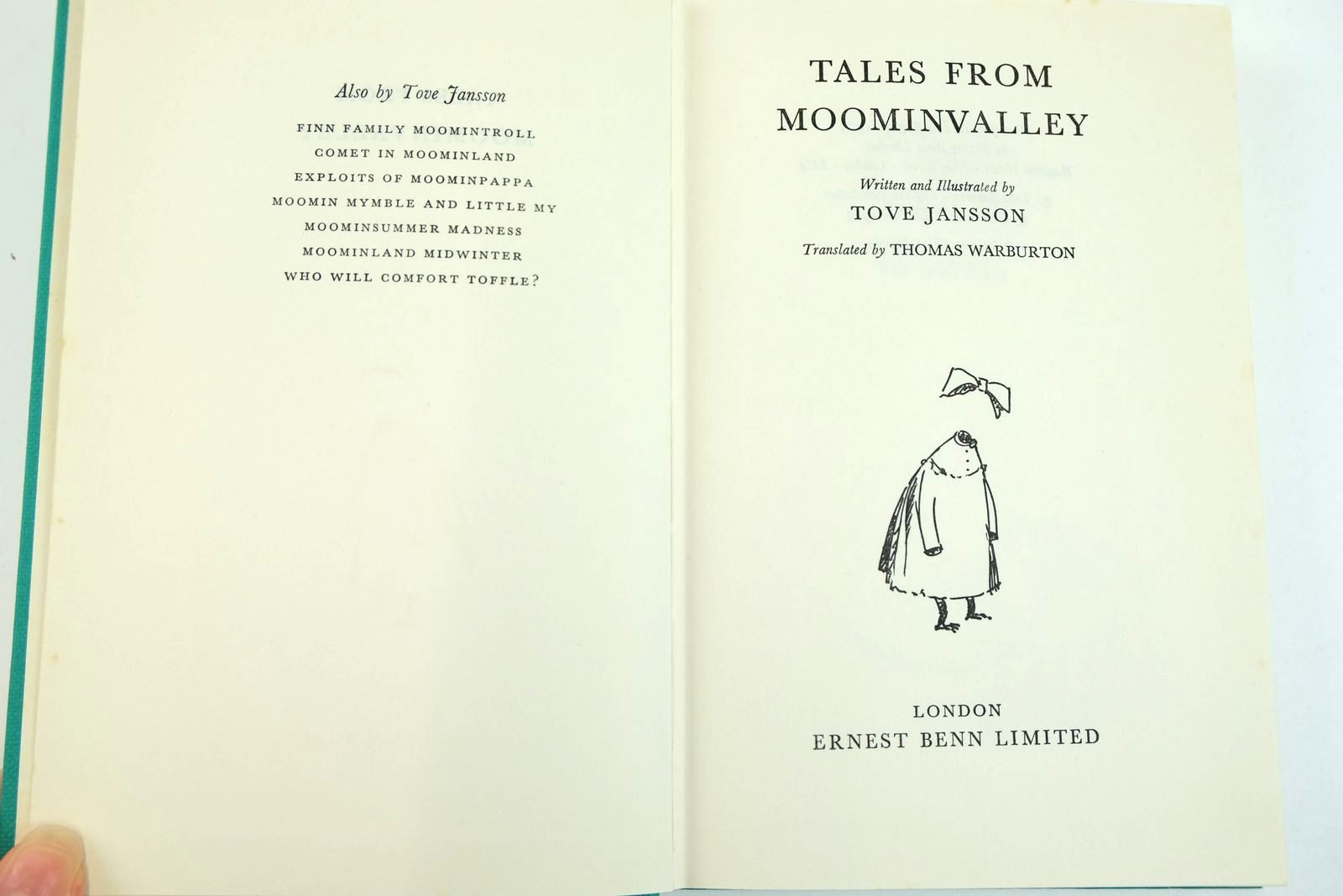 Photo of TALES FROM MOOMINVALLEY written by Jansson, Tove illustrated by Jansson, Tove published by Ernest Benn Limited (STOCK CODE: 2132700)  for sale by Stella & Rose's Books