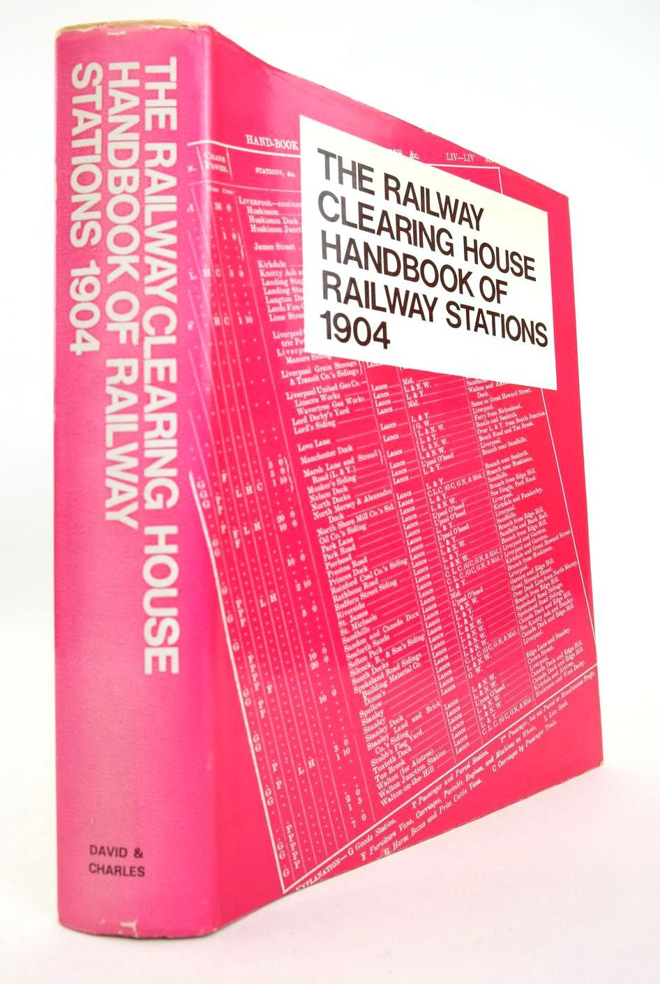 Photo of THE RAILWAY CLEARING HOUSE HANDBOOK OF RAILWAY STATIONS 1904 written by Clinker, C.R. published by David & Charles (STOCK CODE: 2132814)  for sale by Stella & Rose's Books