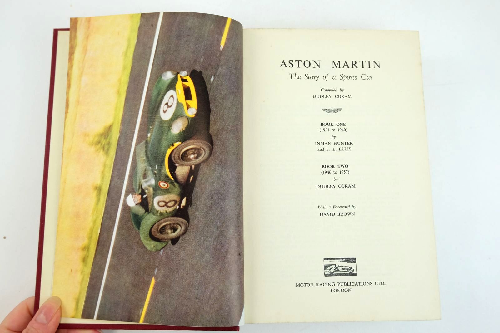 Photo of ASTON MARTIN THE STORY OF A SPORTS CAR written by Coram, Dudley