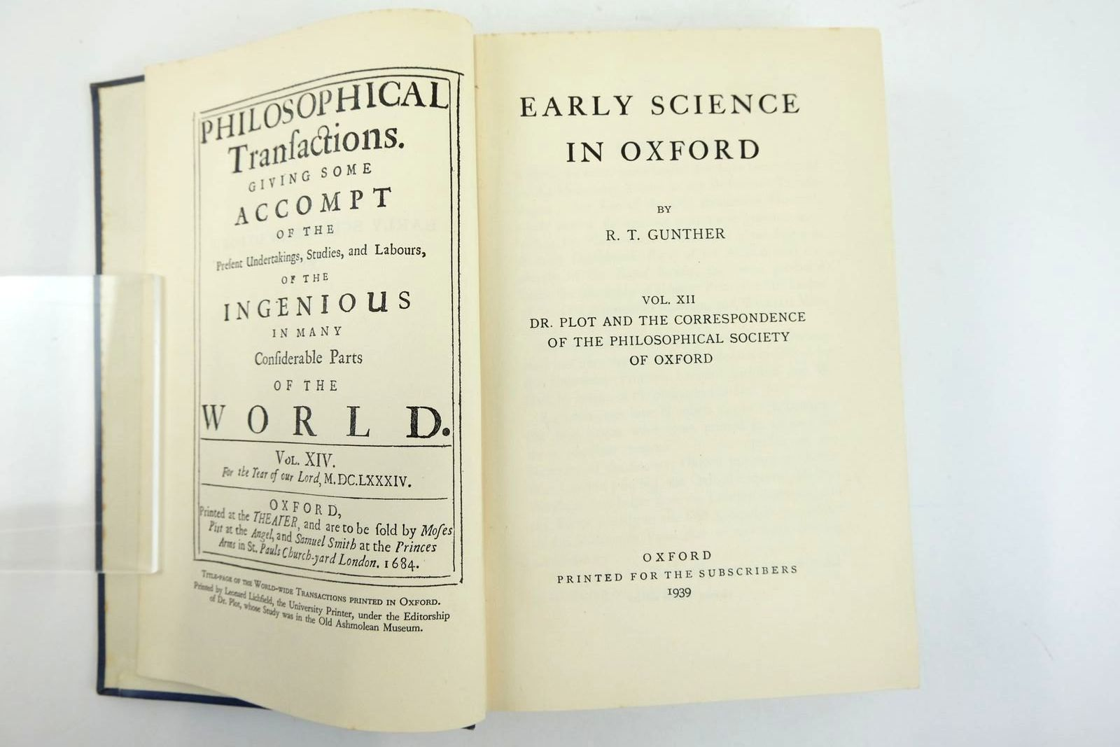 Photo of EARLY SCIENCE IN OXFORD VOL XII written by Gunther, R.T. published by Oxford University Press (STOCK CODE: 2133146)  for sale by Stella & Rose's Books
