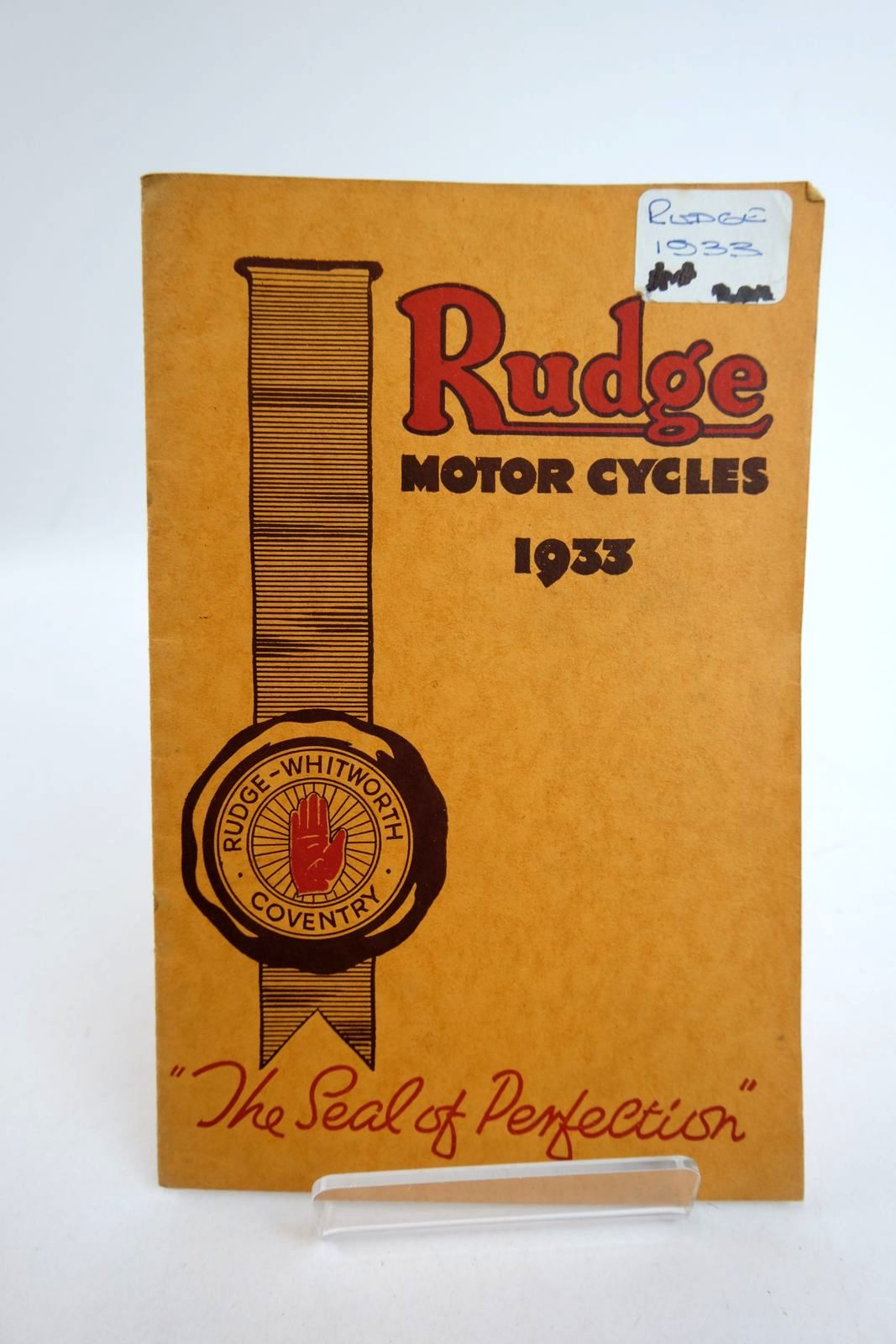 Photo of RUDGE MOTOR CYCLES 1933 published by Rudge-Whitworth Ltd. (STOCK CODE: 2133176)  for sale by Stella & Rose's Books