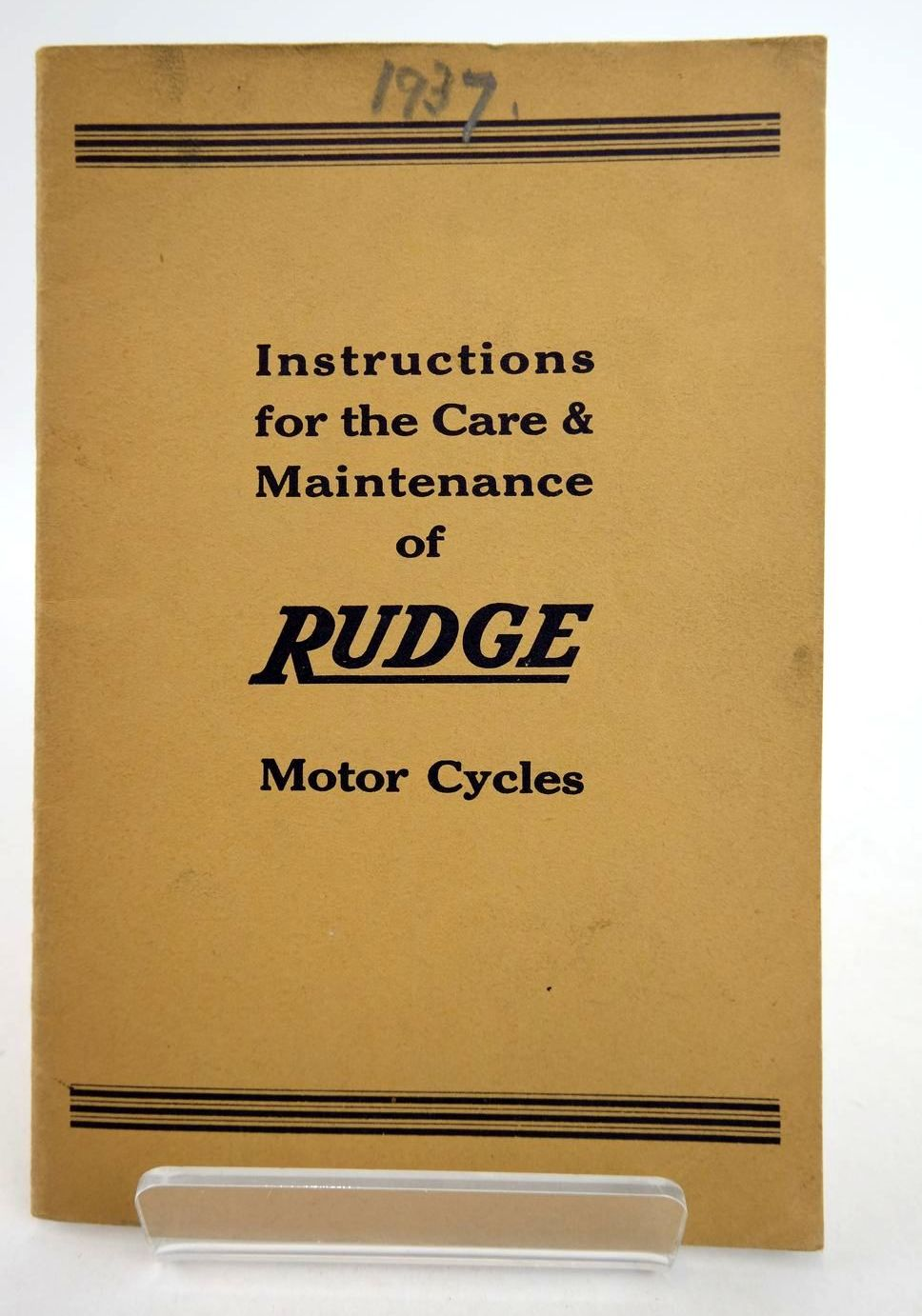 Photo of HOW TO TAKE CARE OF YOUR RUDGE published by Rudge-Whitworth Ltd. (STOCK CODE: 2133184)  for sale by Stella & Rose's Books