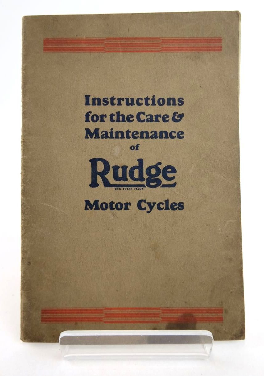Photo of HOW TO TAKE CARE OF YOUR RUDGE published by Rudge-Whitworth Ltd. (STOCK CODE: 2133186)  for sale by Stella & Rose's Books