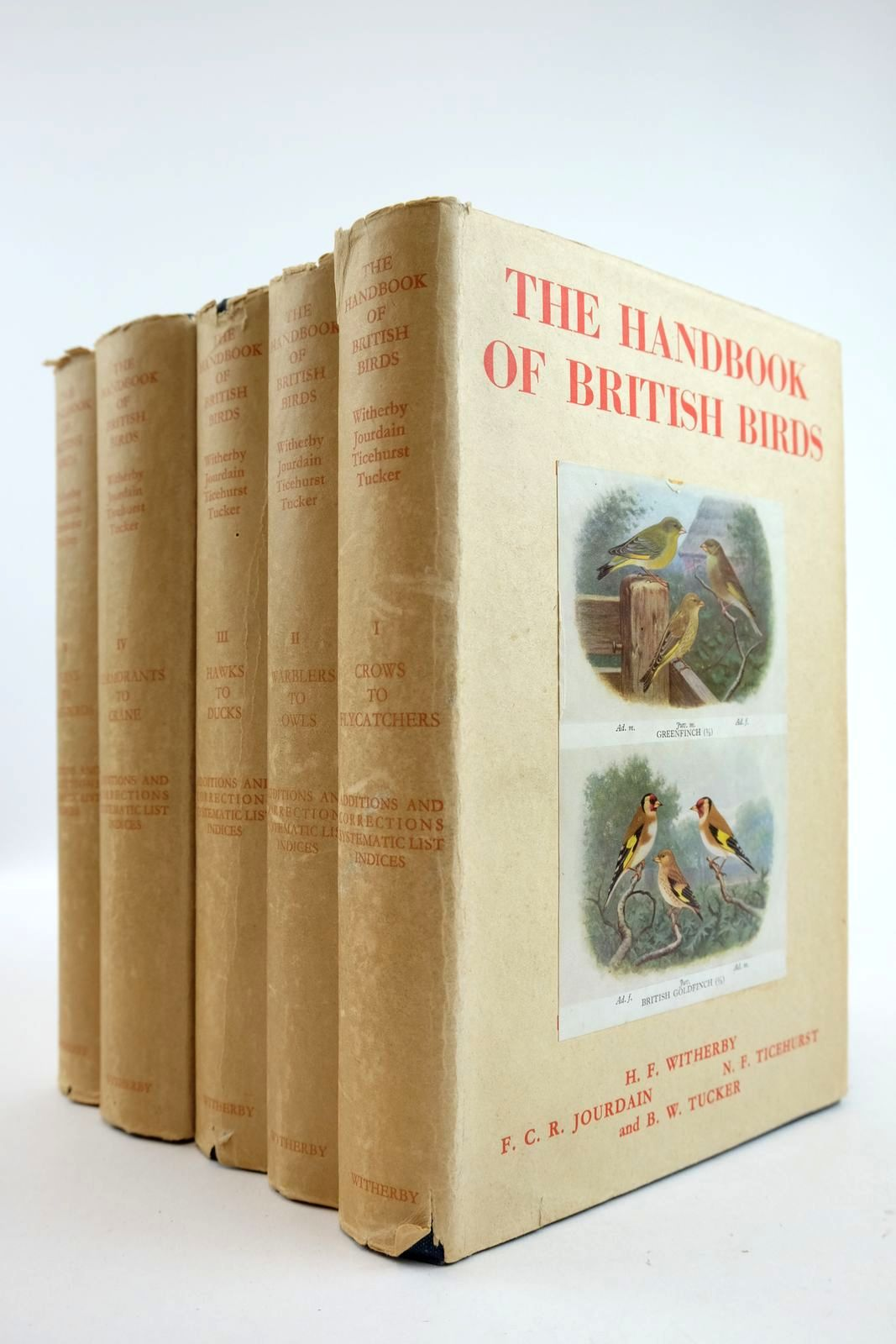 Photo of THE HANDBOOK OF BRITISH BIRDS VOLUMES I - V- Stock Number: 2133254