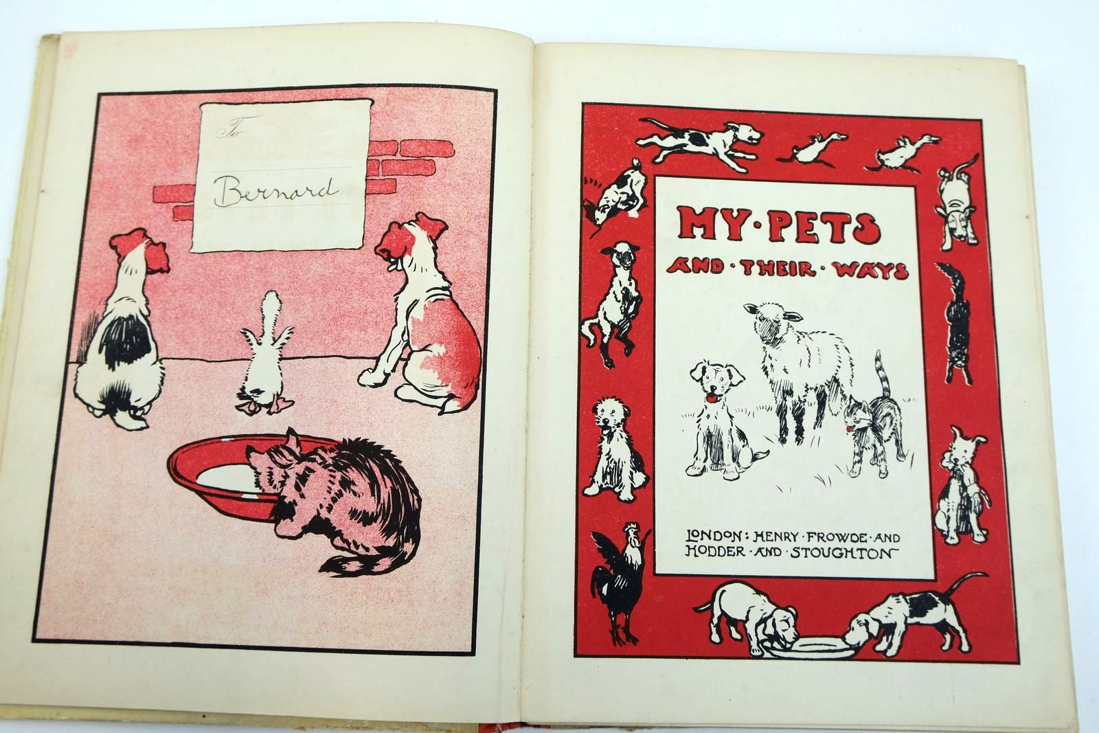 Photo of MY PETS AND THEIR WAYS illustrated by Aldin, Cecil Hartley, J.H. Christie, G.F. Whatley, Hubert et al.,  published by Henry Frowde, Hodder & Stoughton (STOCK CODE: 2133290)  for sale by Stella & Rose's Books