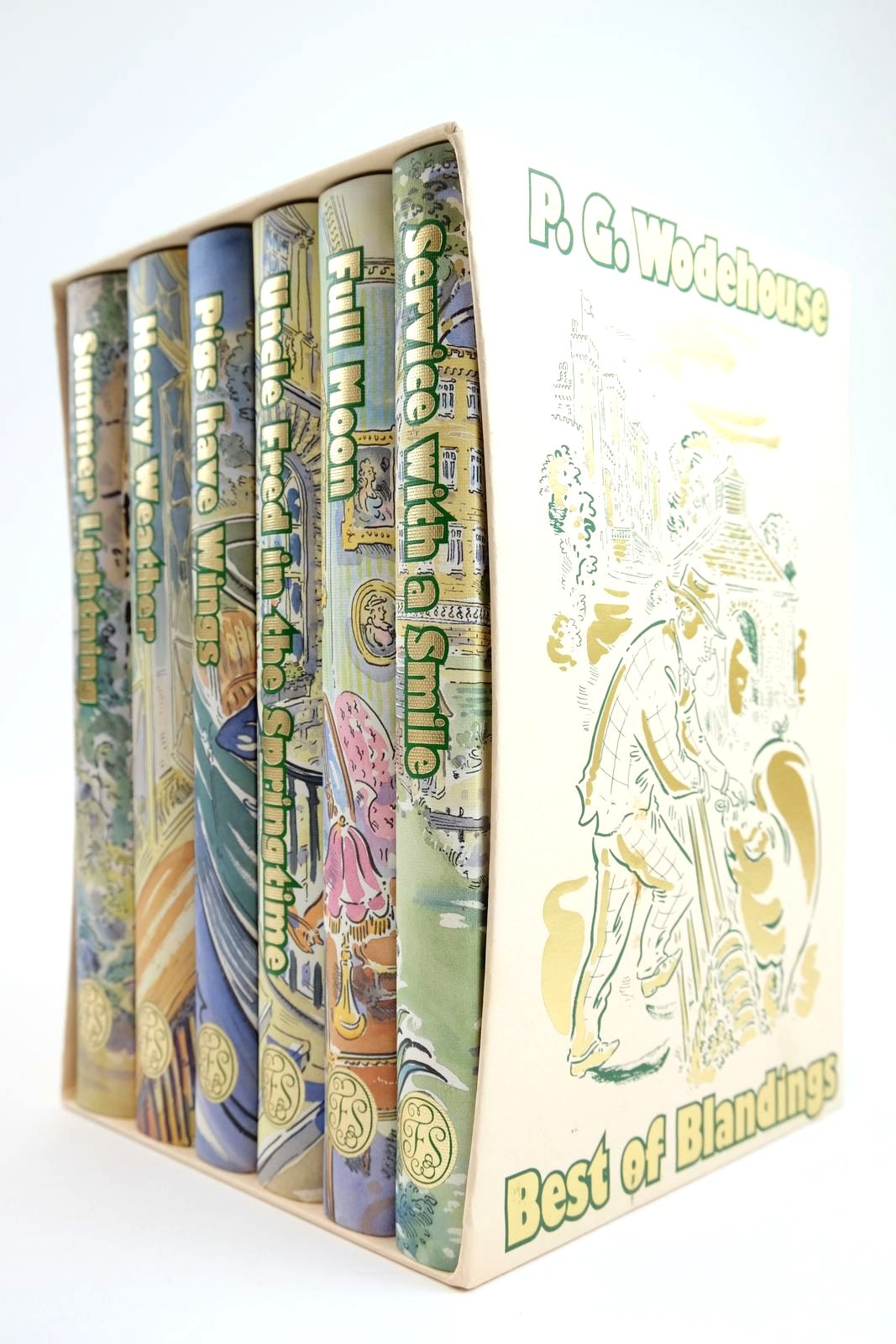 Photo of BEST OF BLANDINGS (6 VOLUMES) written by Wodehouse, P.G. illustrated by Cox, Paul published by Folio Society (STOCK CODE: 2133591)  for sale by Stella & Rose's Books