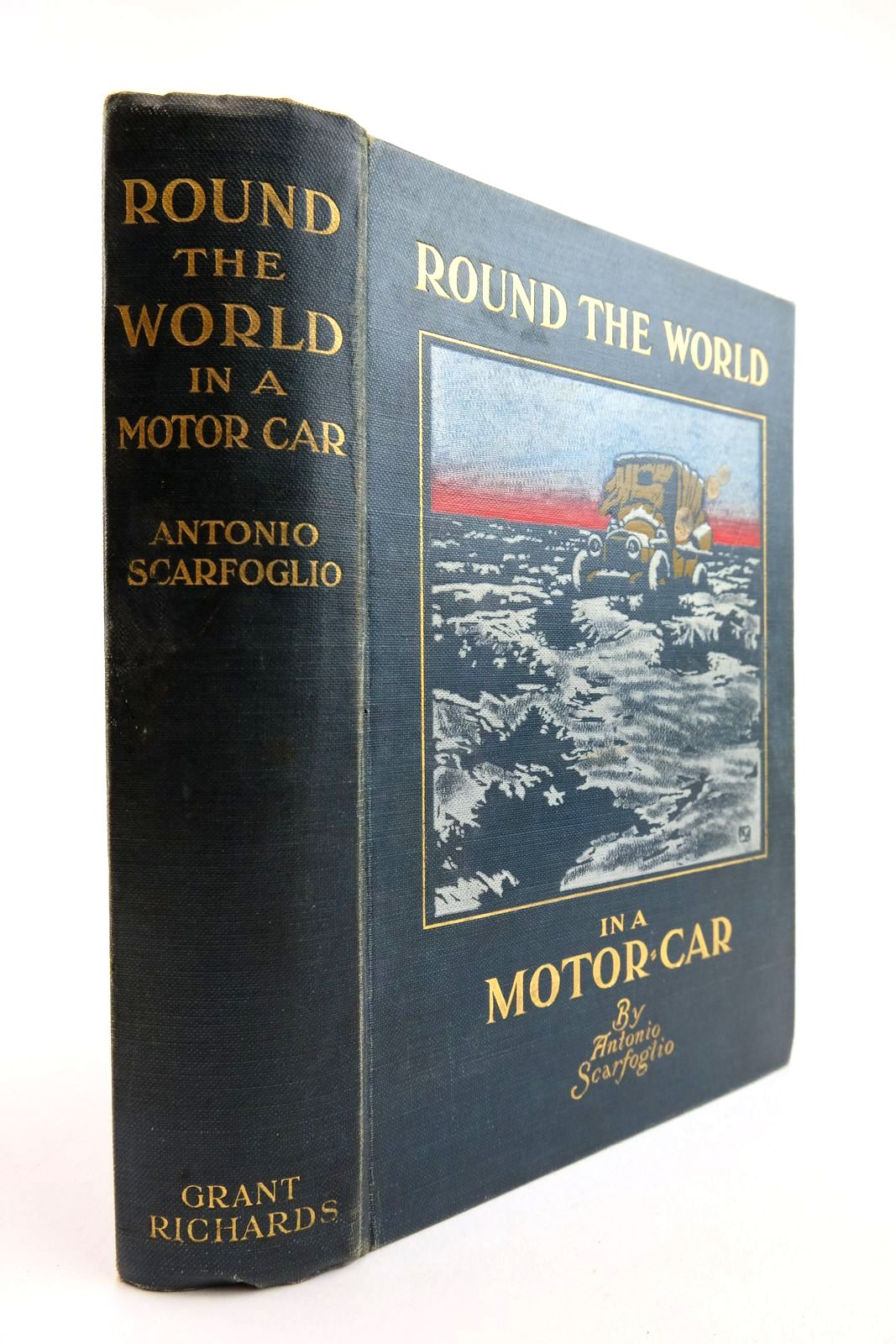 Photo of ROUND THE WORLD IN A MOTOR-CAR written by Scarfoglio, Antonio