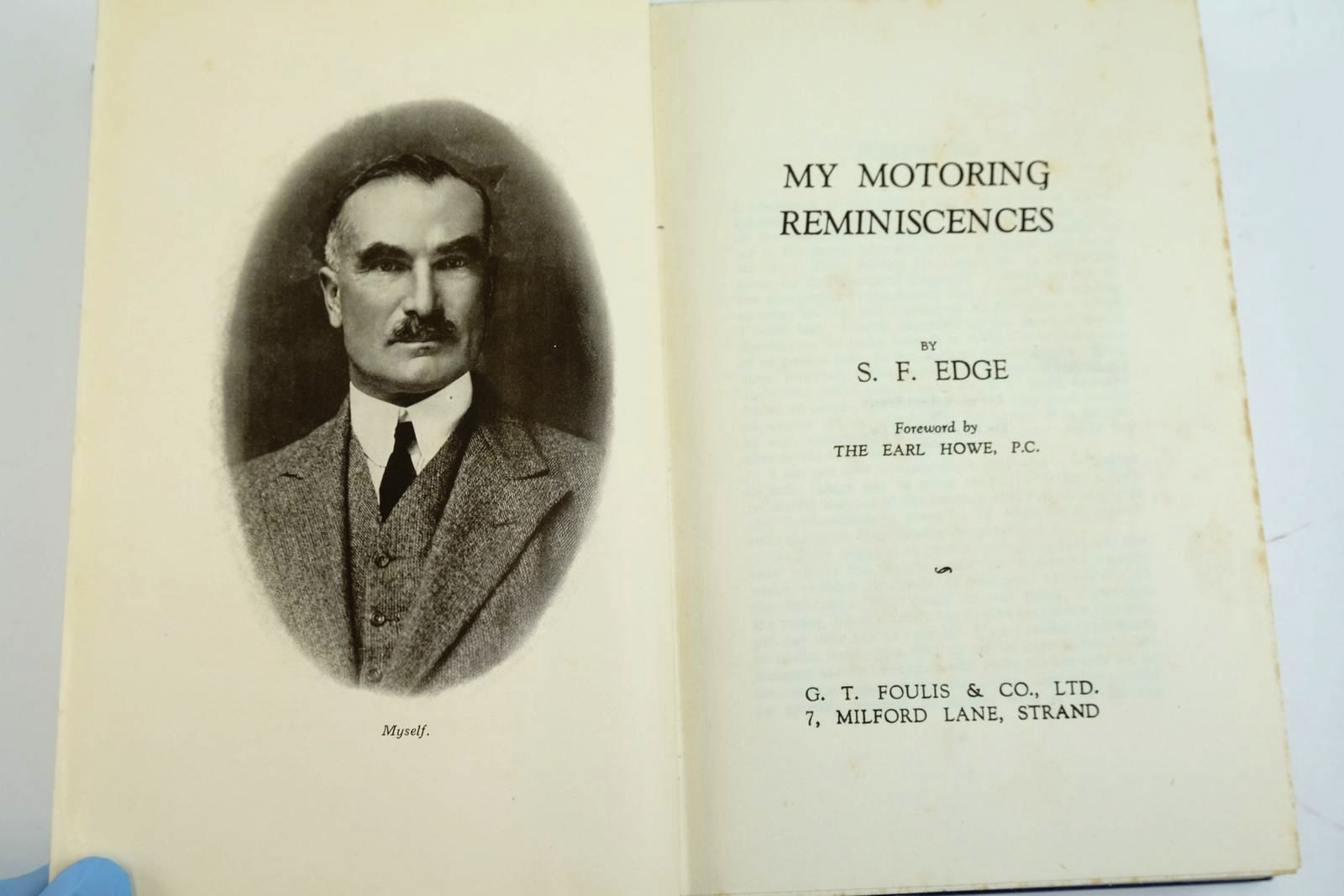 Photo of MY MOTORING REMINISCENCES written by Edge, S.F. published by G.T. Foulis & Co. Ltd. (STOCK CODE: 2133954)  for sale by Stella & Rose's Books