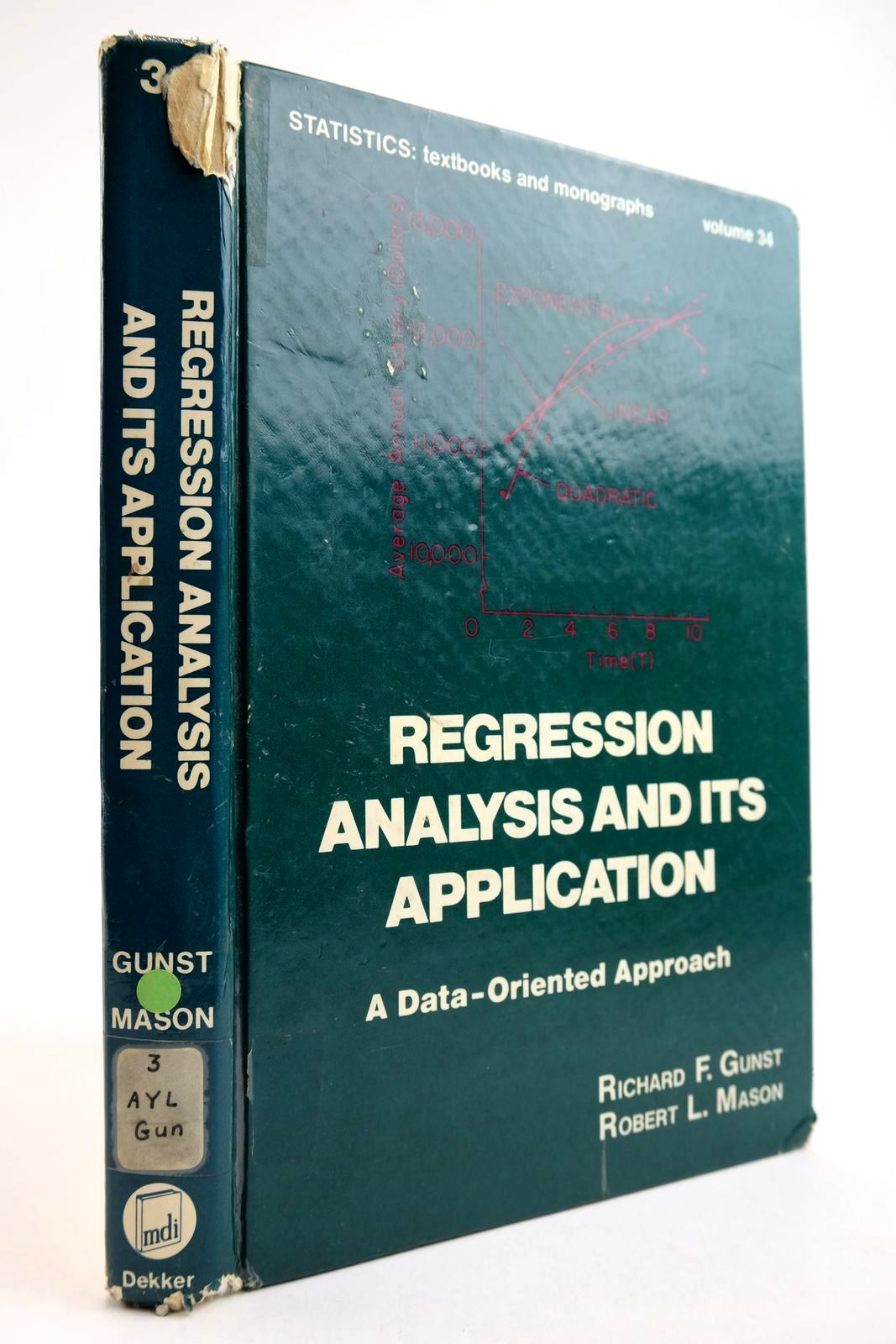 Photo of REGRESSION ANALYSIS AND ITS APPLICATION: A DATA-ORIENTED APPROACH written by Gunst, Richard F. Mason, Robert L. published by Marcel Dekker (STOCK CODE: 2134106)  for sale by Stella & Rose's Books