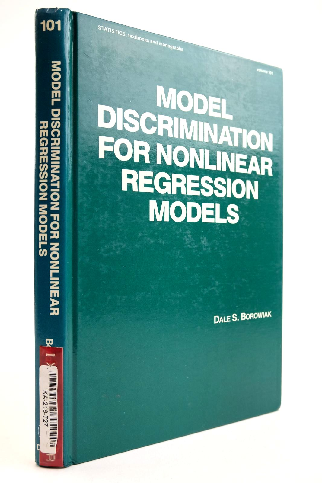 Photo of MODEL DISCRIMINATION FOR NONLINEAR REGRESSION MODELS- Stock Number: 2134107