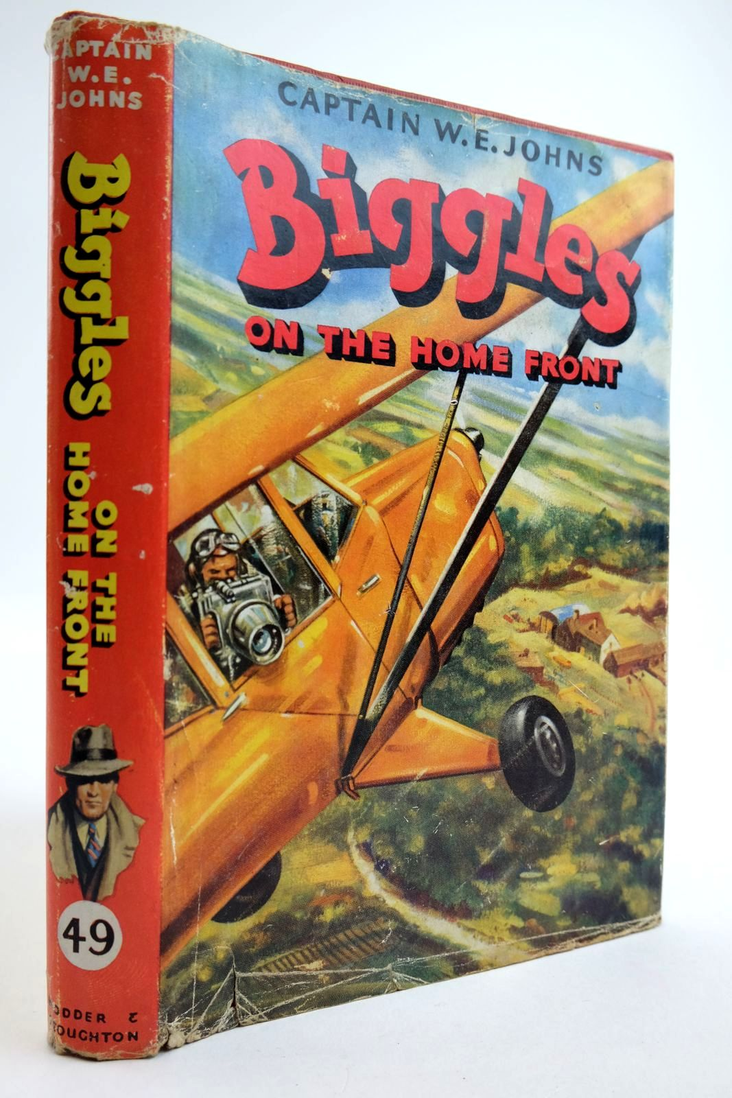 Photo of BIGGLES ON THE HOME FRONT written by Johns, W.E. illustrated by Stead,  published by Hodder & Stoughton (STOCK CODE: 2134122)  for sale by Stella & Rose's Books