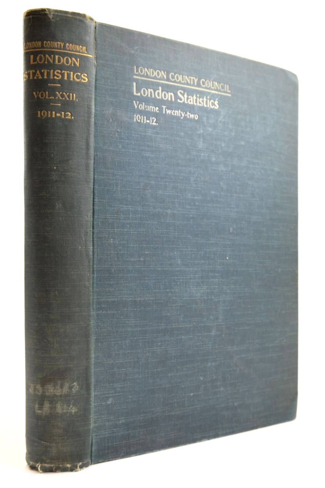 Photo of LONDON STATISTICS 1911-12 VOL. XXII- Stock Number: 2134147
