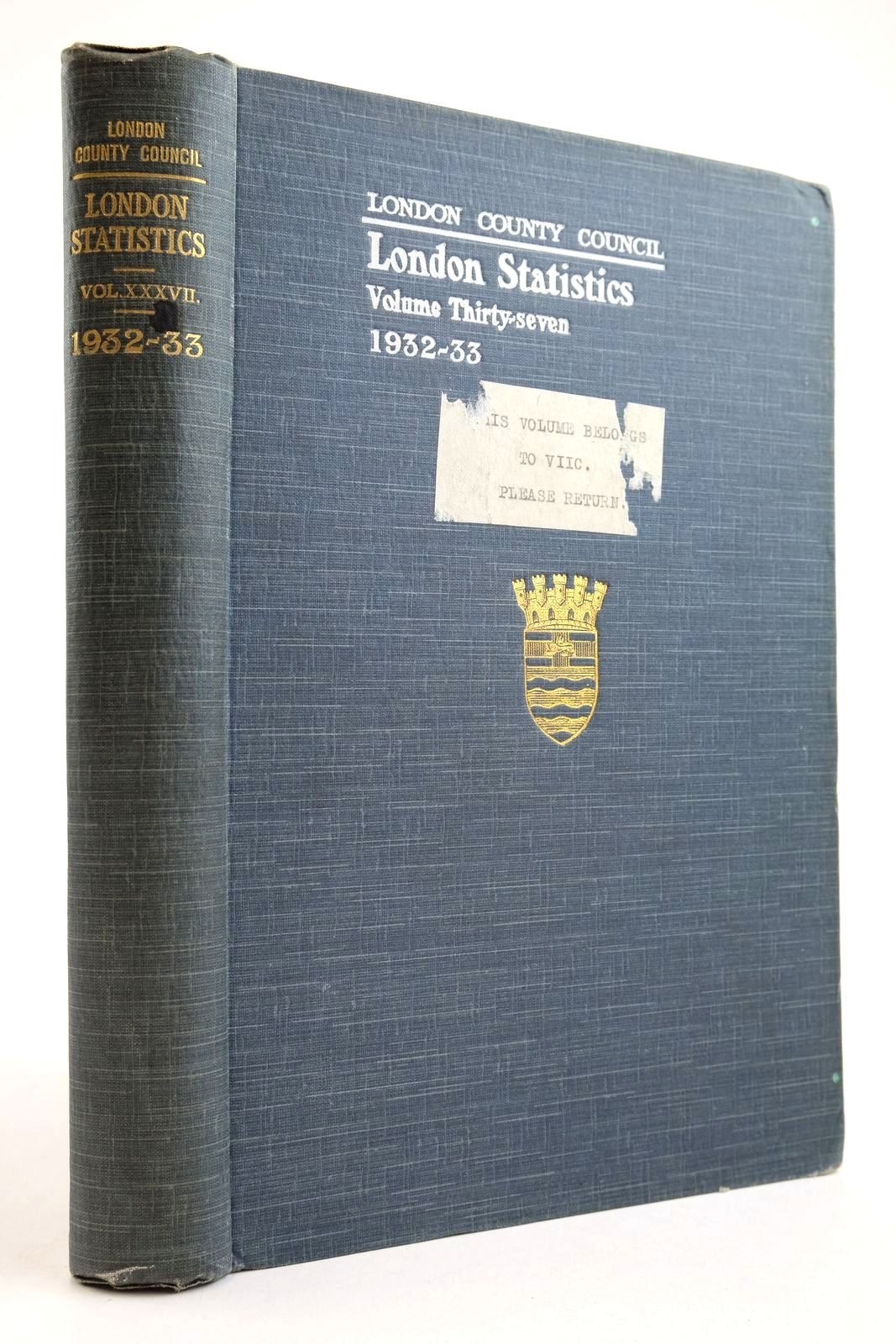 Photo of LONDON STATISTICS 1932-33 VOL. XXXVII- Stock Number: 2134150