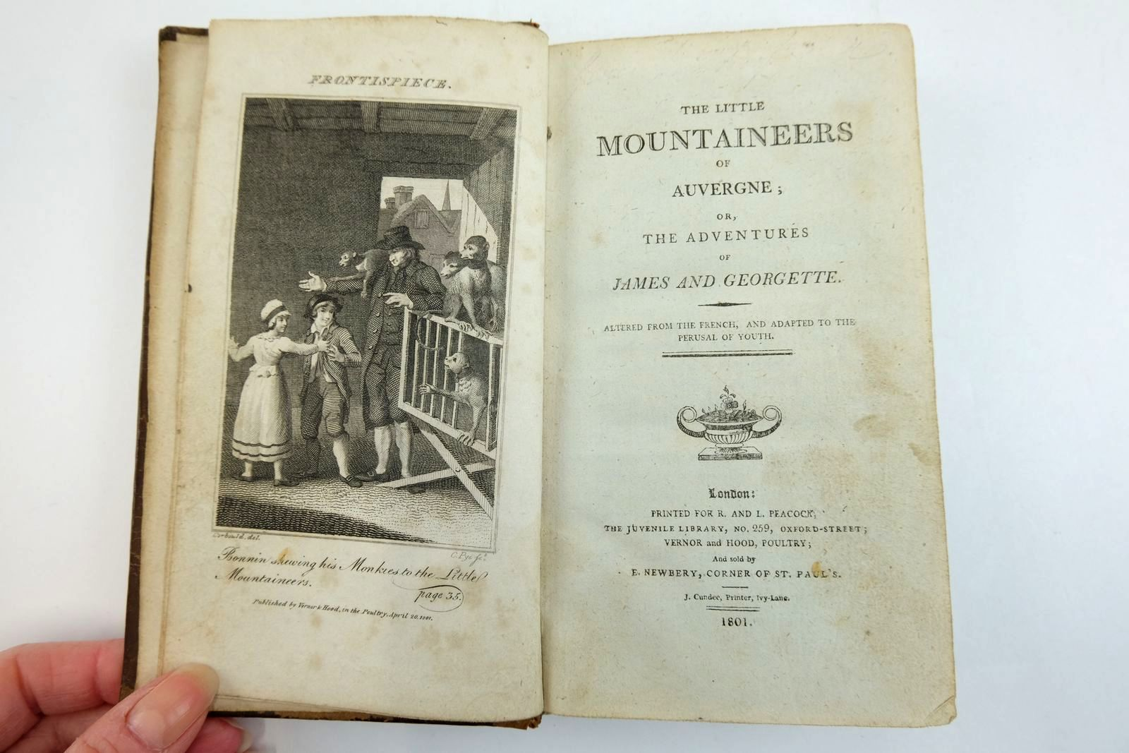 Photo of THE LITTLE MOUNTAINEERS OF AUVERGNE written by Ducray-Duminil, Francois Gillaume published by R. And L. Peacock (STOCK CODE: 2134189)  for sale by Stella & Rose's Books