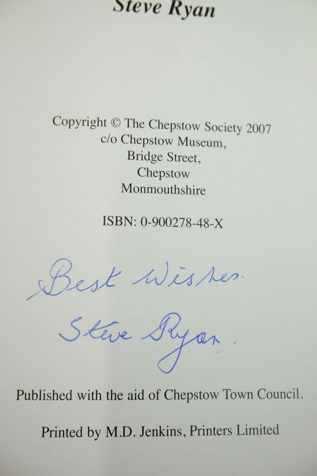 Photo of THOMAS STREET: COURTS AND CHARACTERS written by Ryan, Steve published by The Chepstow Society (STOCK CODE: 2134441)  for sale by Stella & Rose's Books