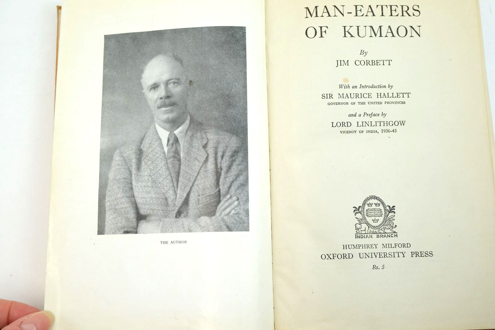 Photo of MAN-EATERS OF KUMAON written by Corbett, Jim published by Oxford University Press, Humphrey Milford (STOCK CODE: 2134636)  for sale by Stella & Rose's Books