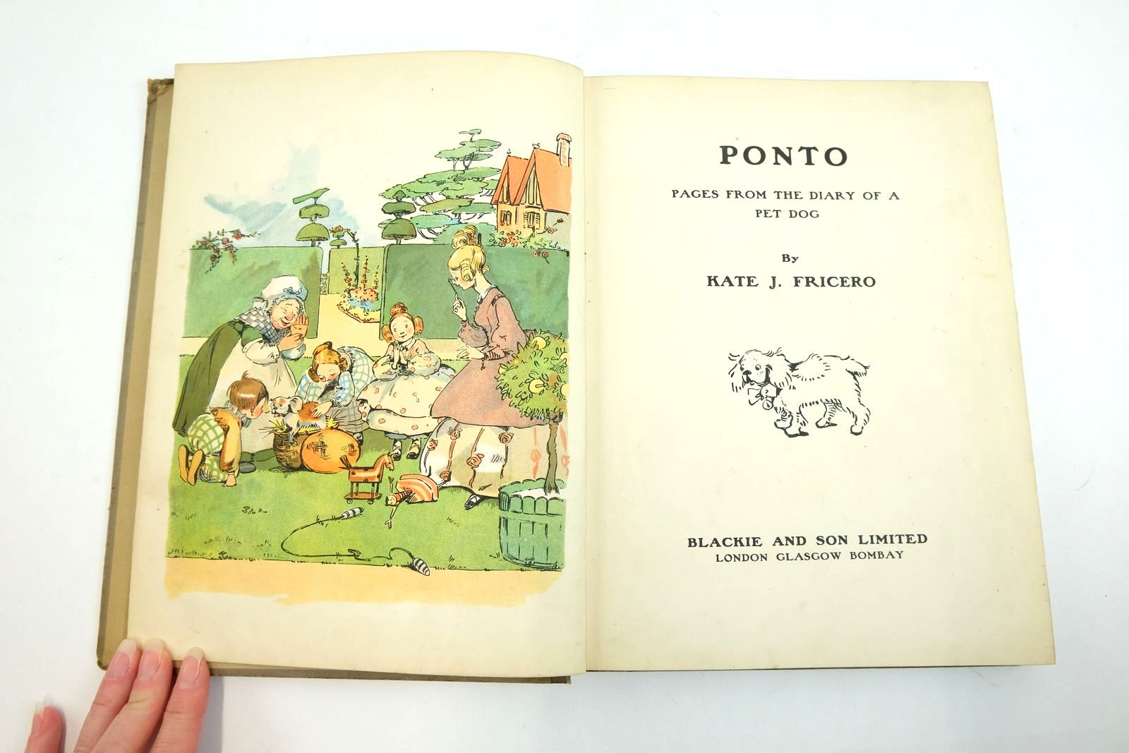 Photo of PONTO PAGES FROM THE DIARY OF A PET DOG written by Fricero, Kate J. illustrated by Fricero, Kate J. published by Blackie & Son Ltd. (STOCK CODE: 2134713)  for sale by Stella & Rose's Books