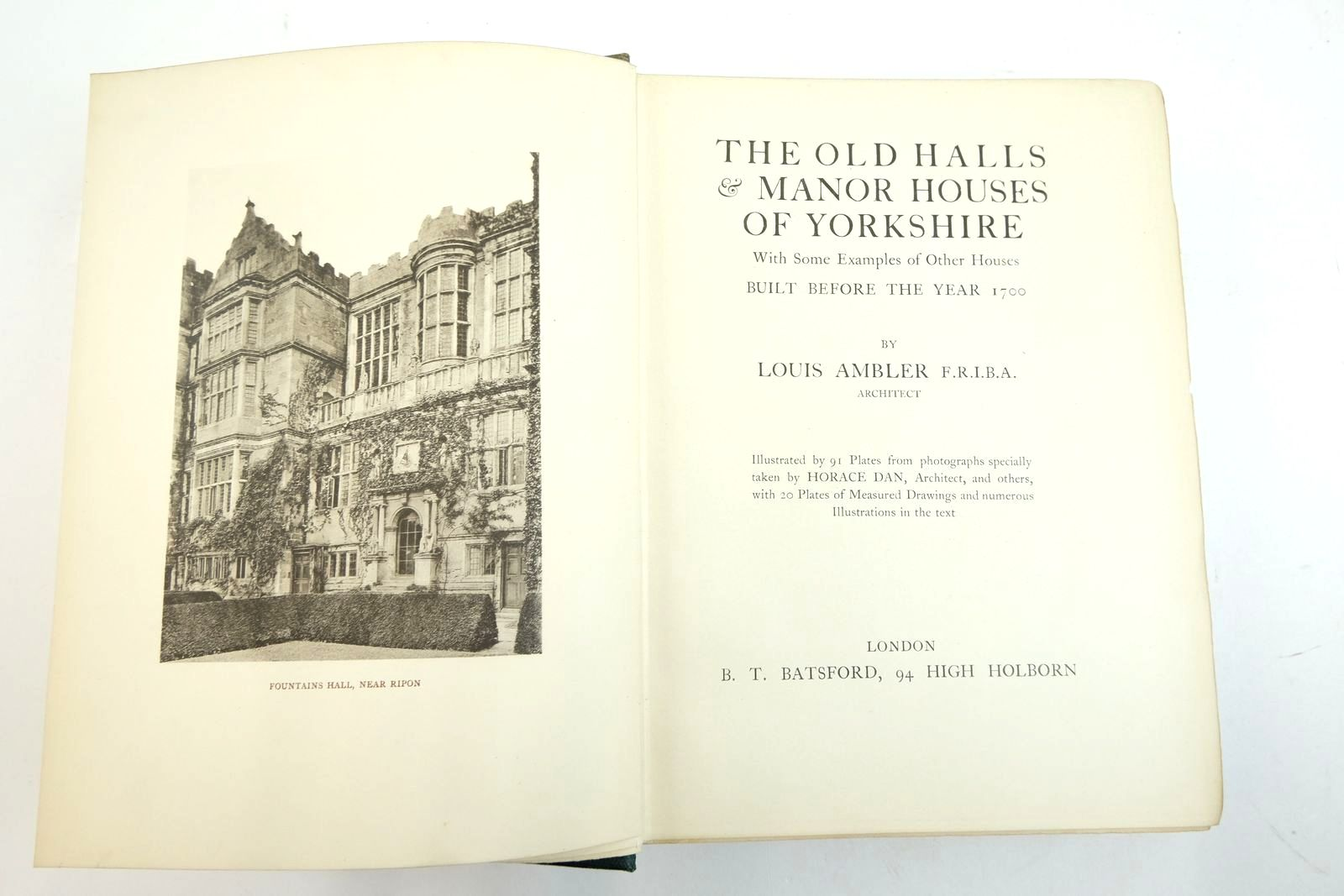 Photo of THE OLD HALLS & MANOR HOUSES OF YORKSHIRE WITH SOME EXAMPLES OF OTHER HOUSES BUILT BEFORE THE YEAR 1700 written by Ambler, Louis published by B.T. Batsford (STOCK CODE: 2134791)  for sale by Stella & Rose's Books
