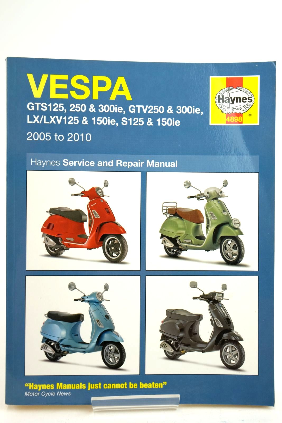 Photo of VESPA SCOOTERS SERVICE AND REPAIR MANUAL- Stock Number: 2134828