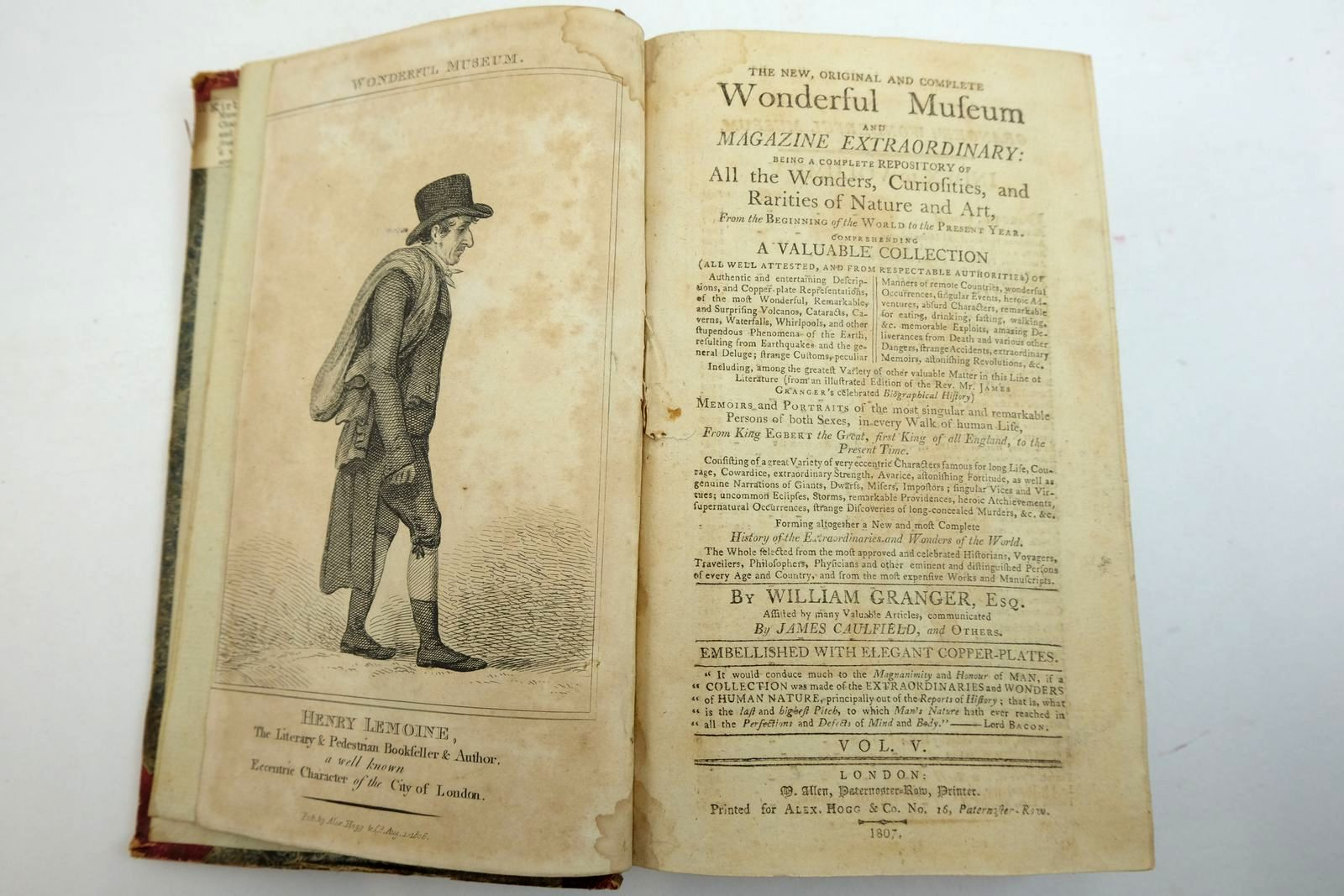 Photo of THE NEW WONDERFUL MUSEUM, AND EXTRAORDINARY MAGAZINE VOL. V written by Granger, William Caulfield, James published by Alex Hogg (STOCK CODE: 2134922)  for sale by Stella & Rose's Books