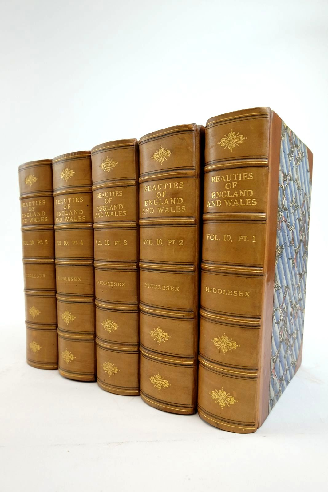 Photo of THE BEAUTIES OF ENGLAND AND WALES VOL. X PARTS 1 - 5 (5 VOLUMES) written by Brayley, Edward Wedlake published by Vernor, Hood & Sharpe (STOCK CODE: 2134981)  for sale by Stella & Rose's Books